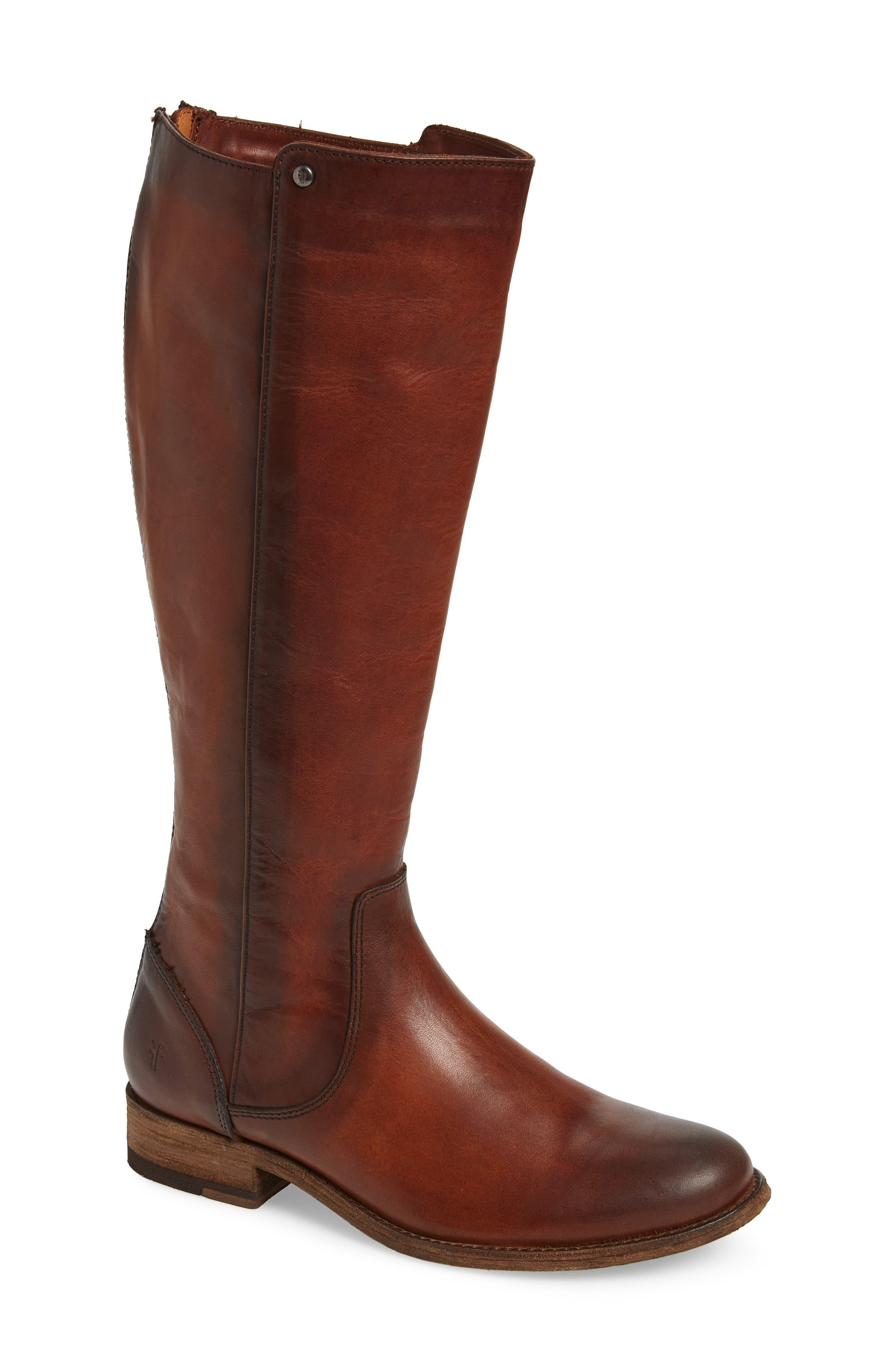 Frye Melissa Stud Knee High Boot, Brown