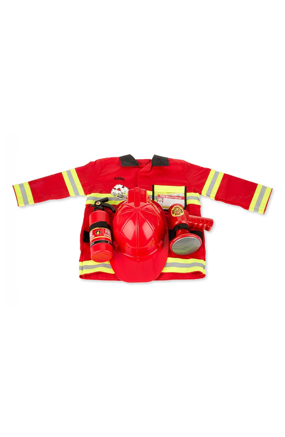 Personalized Fire Chief Costume Set,                             Main thumbnail 1, color,                             RED