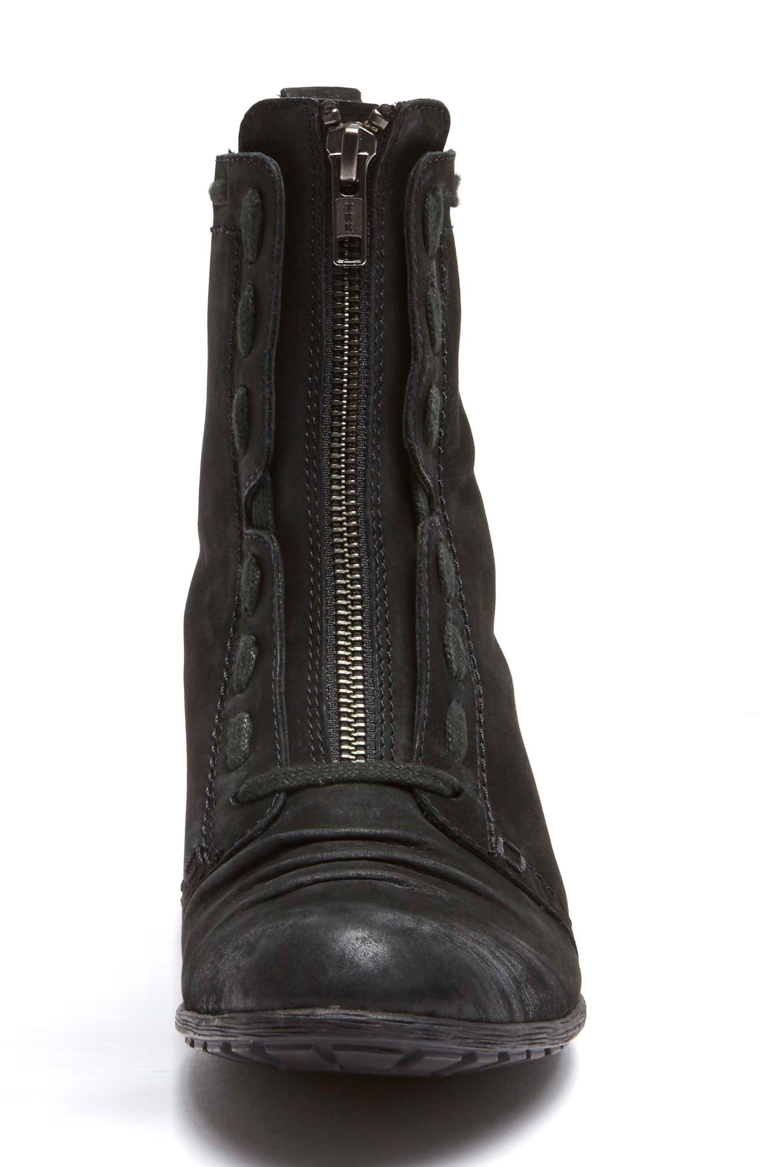 Gratasha Front Zip Boot,                             Alternate thumbnail 4, color,                             BLACK NUBUCK