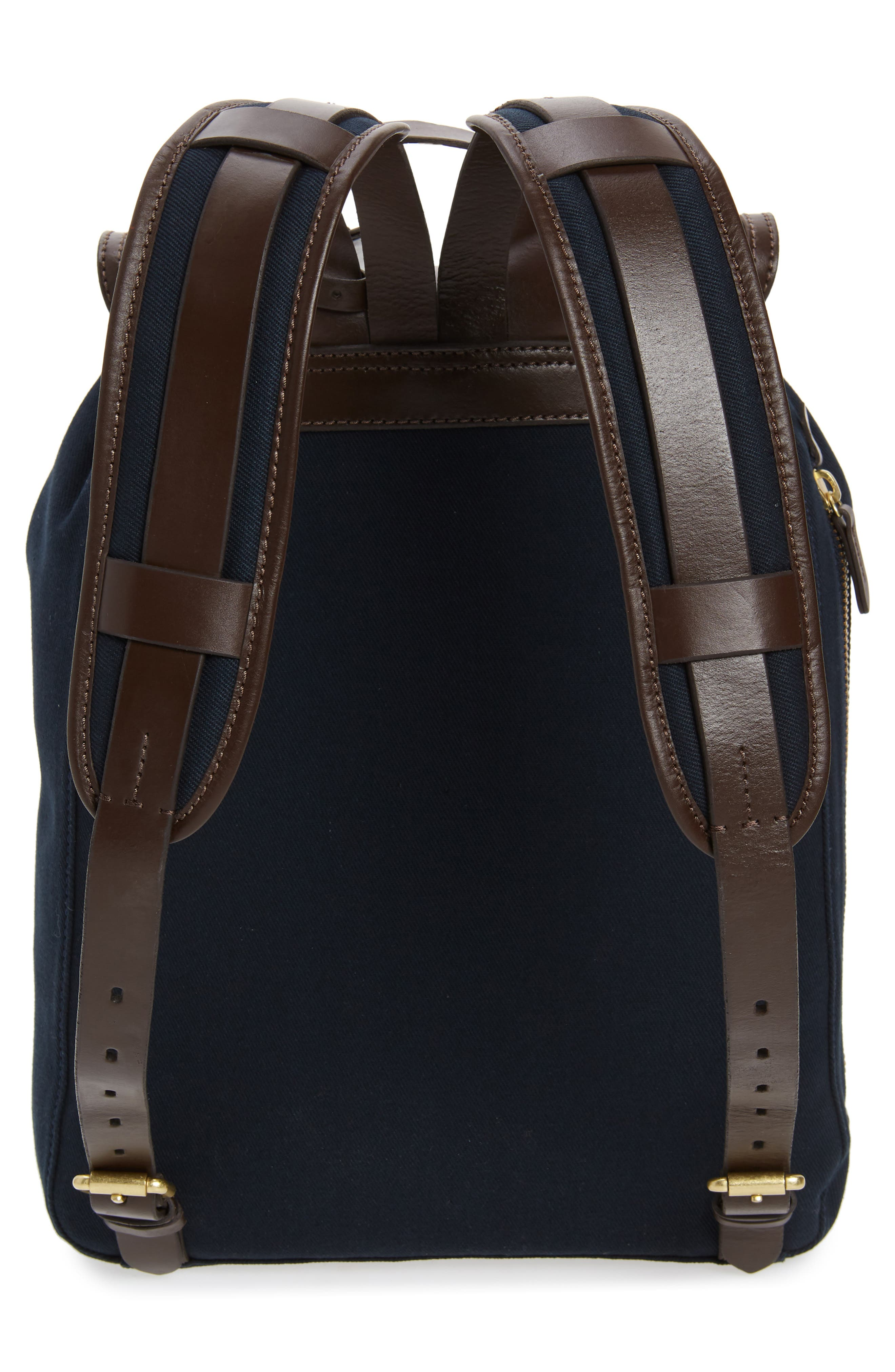 Canvas Backpack,                             Alternate thumbnail 3, color,                             NAVY
