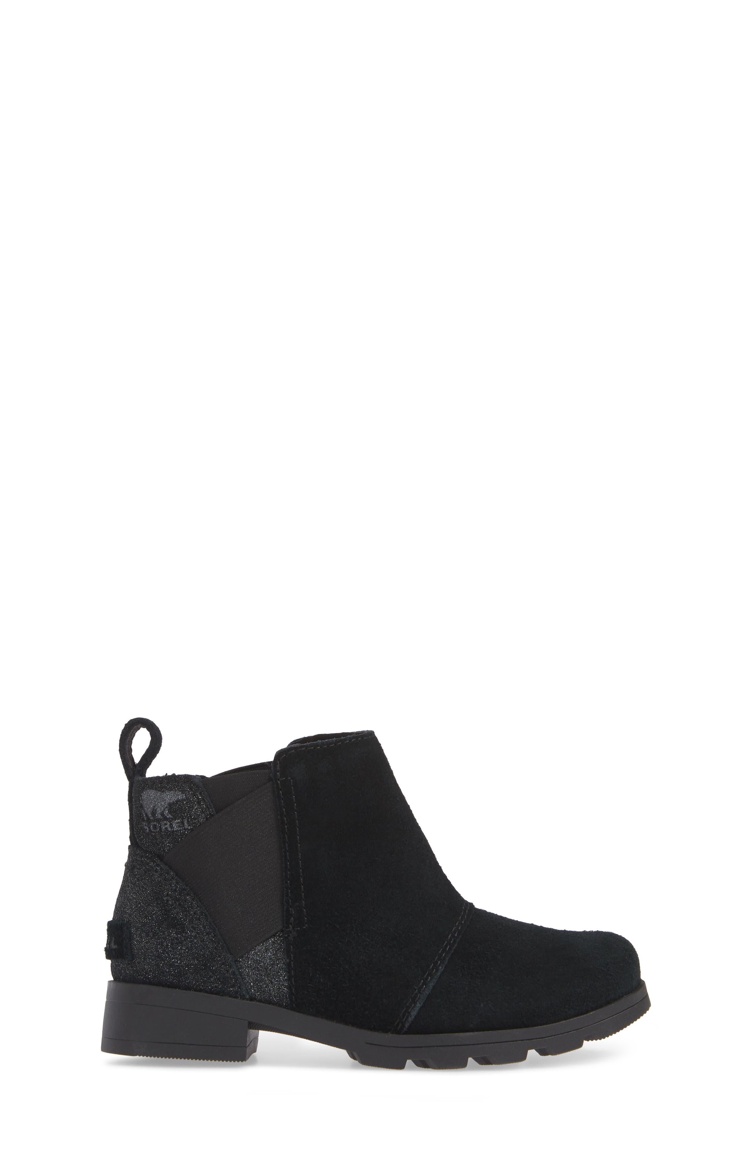 Emelie Waterproof Chelsea Boot,                             Alternate thumbnail 3, color,                             BLACK