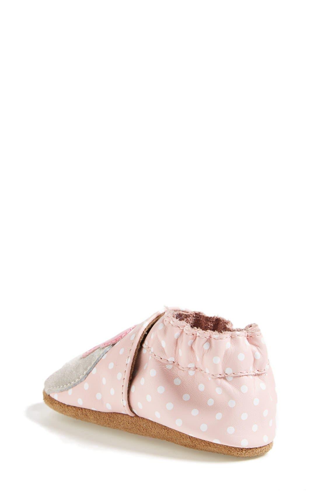'Little Peanut' Crib Shoe,                             Alternate thumbnail 2, color,                             PASTEL PINK