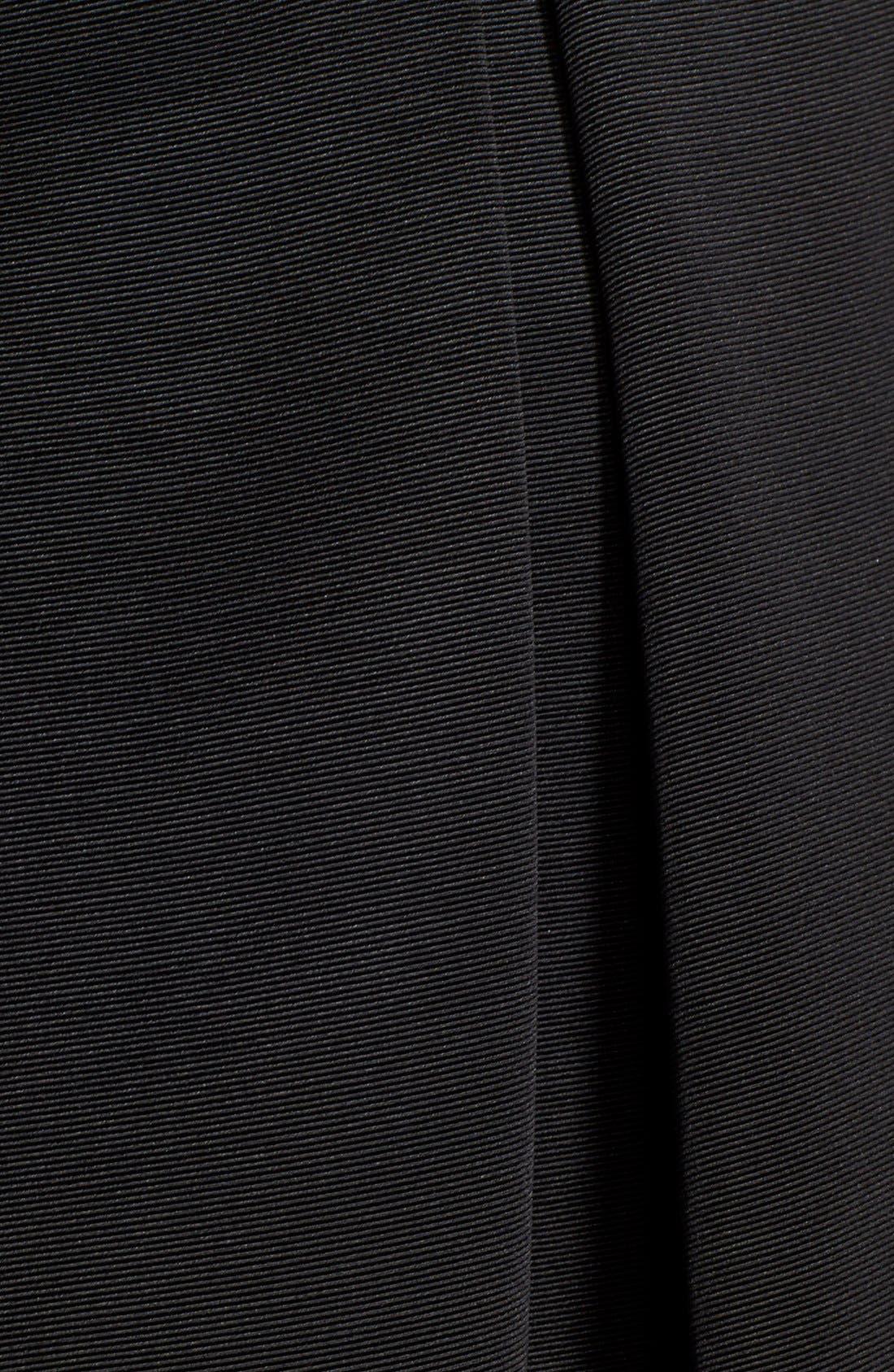 ELIZA J,                             Faille Midi Skirt,                             Alternate thumbnail 3, color,                             001
