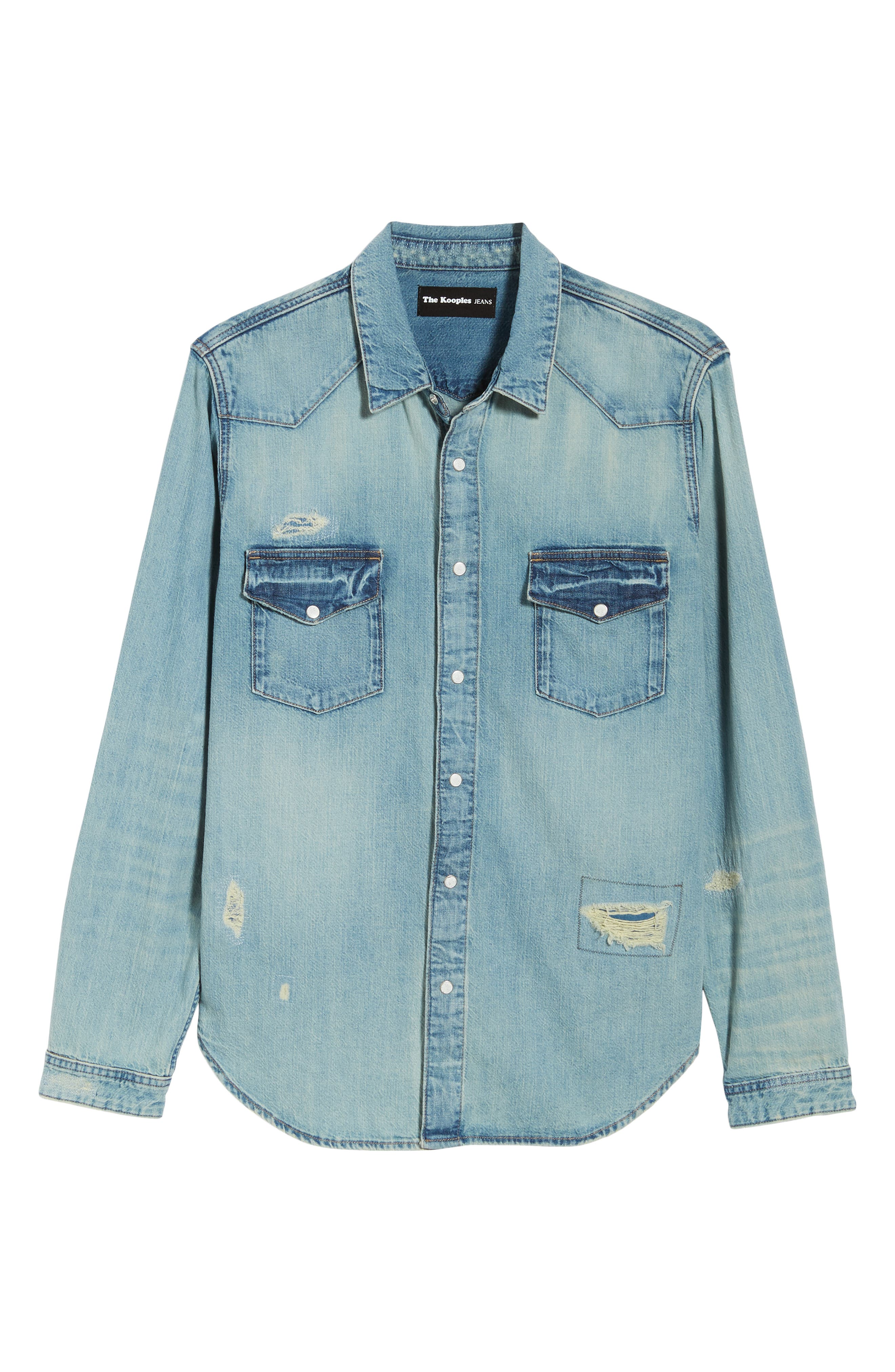 Western Denim Sport Shirt,                             Alternate thumbnail 5, color,                             450