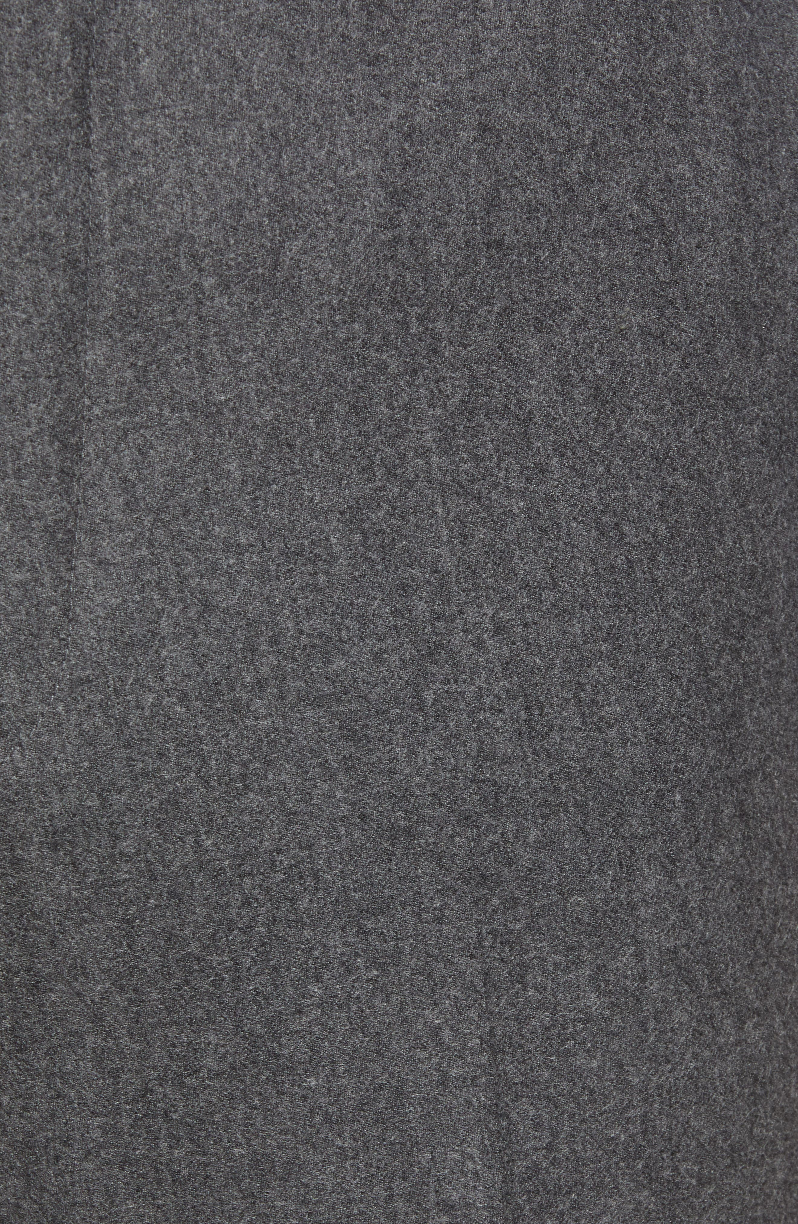 Torino Traditional Fit Flat Front Solid Wool & Cashmere Trousers,                             Alternate thumbnail 5, color,                             MID GREY
