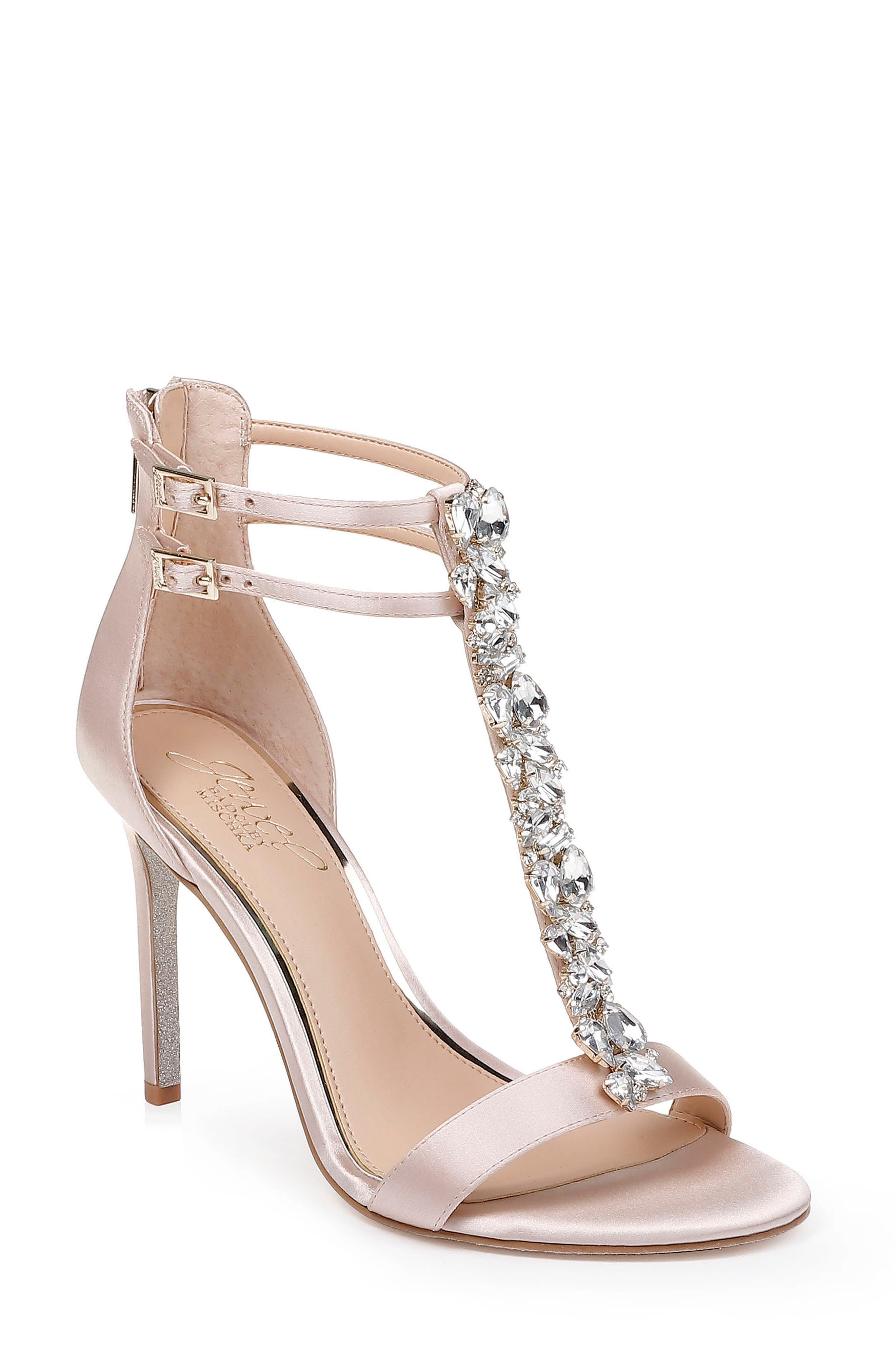 ad29e892f6eb Jewel Badgley Mischka Daughtry Embellished T-Strap Sandal