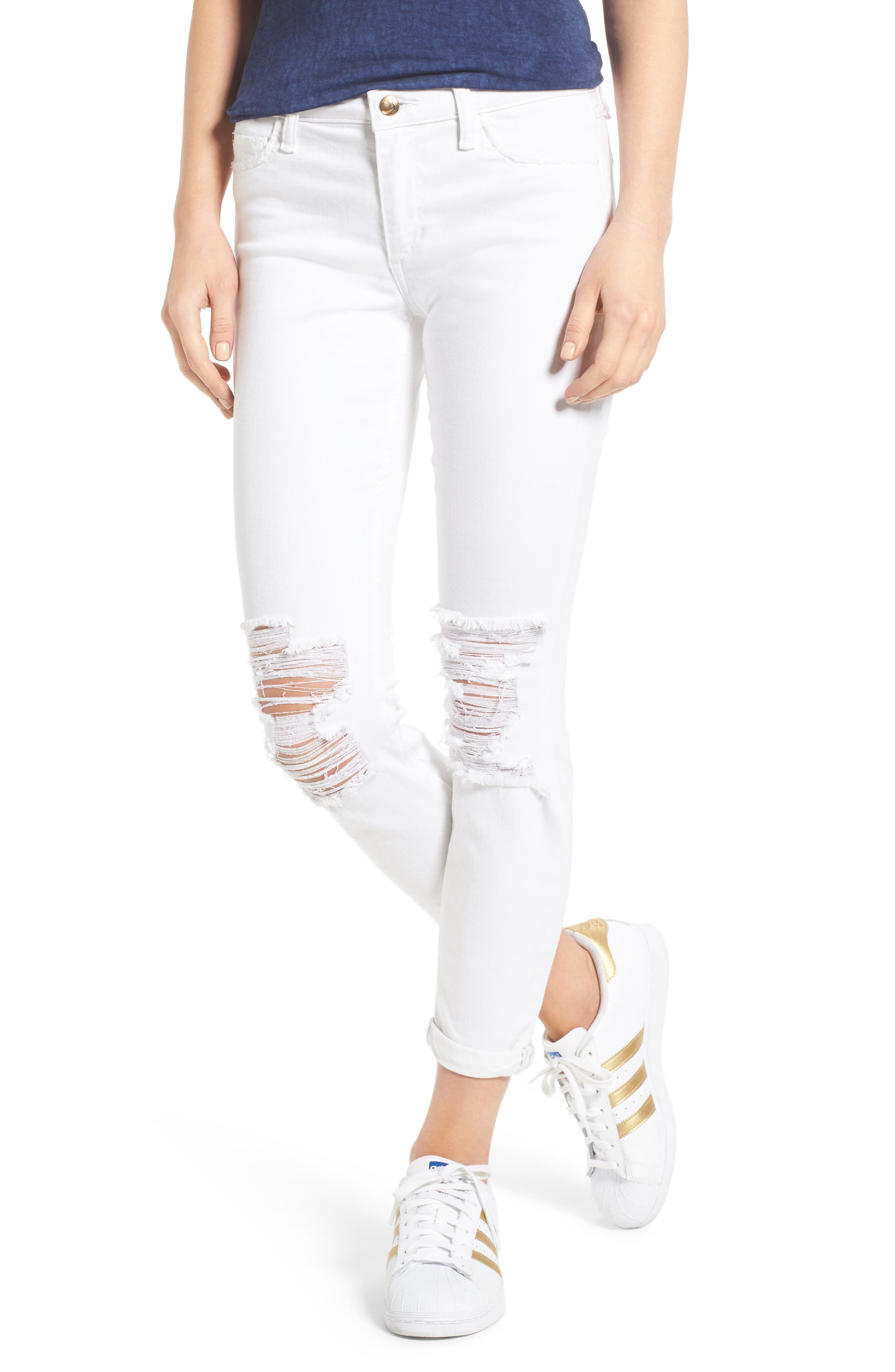 Andie Crop Skinny Jeans,                         Main,                         color, 100