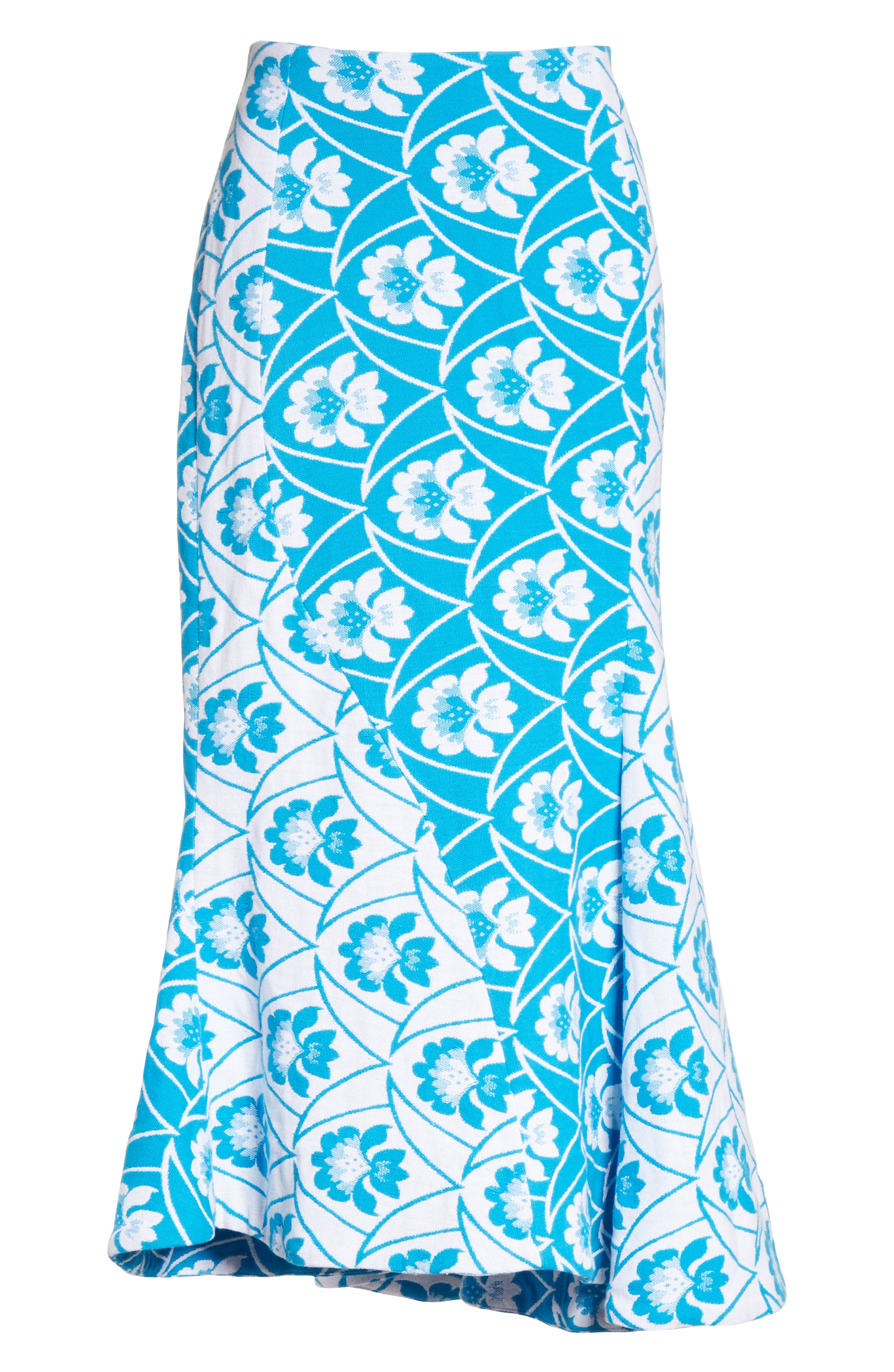 Twist Seam Flare Hem Skirt,                             Alternate thumbnail 6, color,                             460