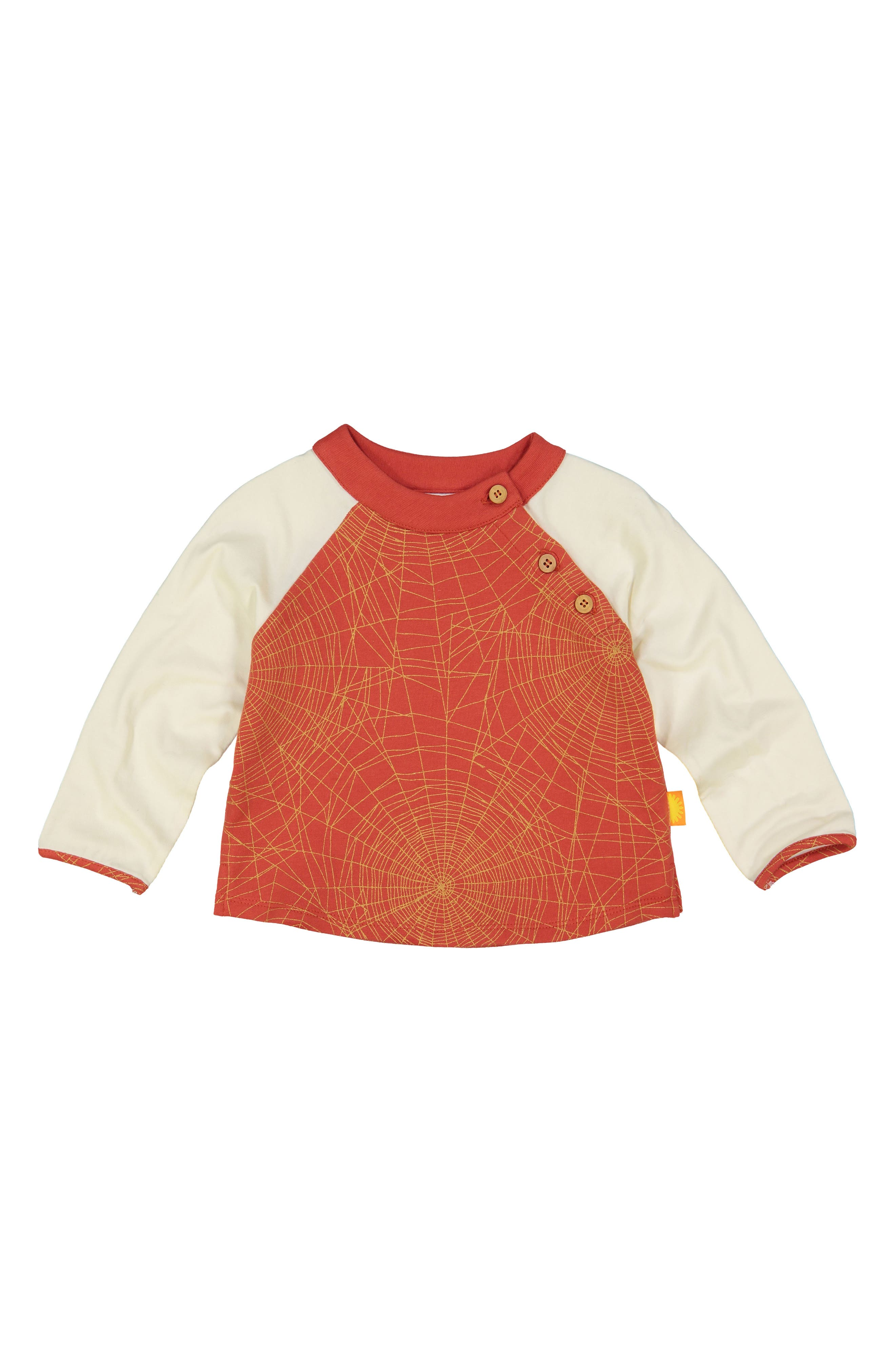 Organic Cotton Pullover,                         Main,                         color, RED