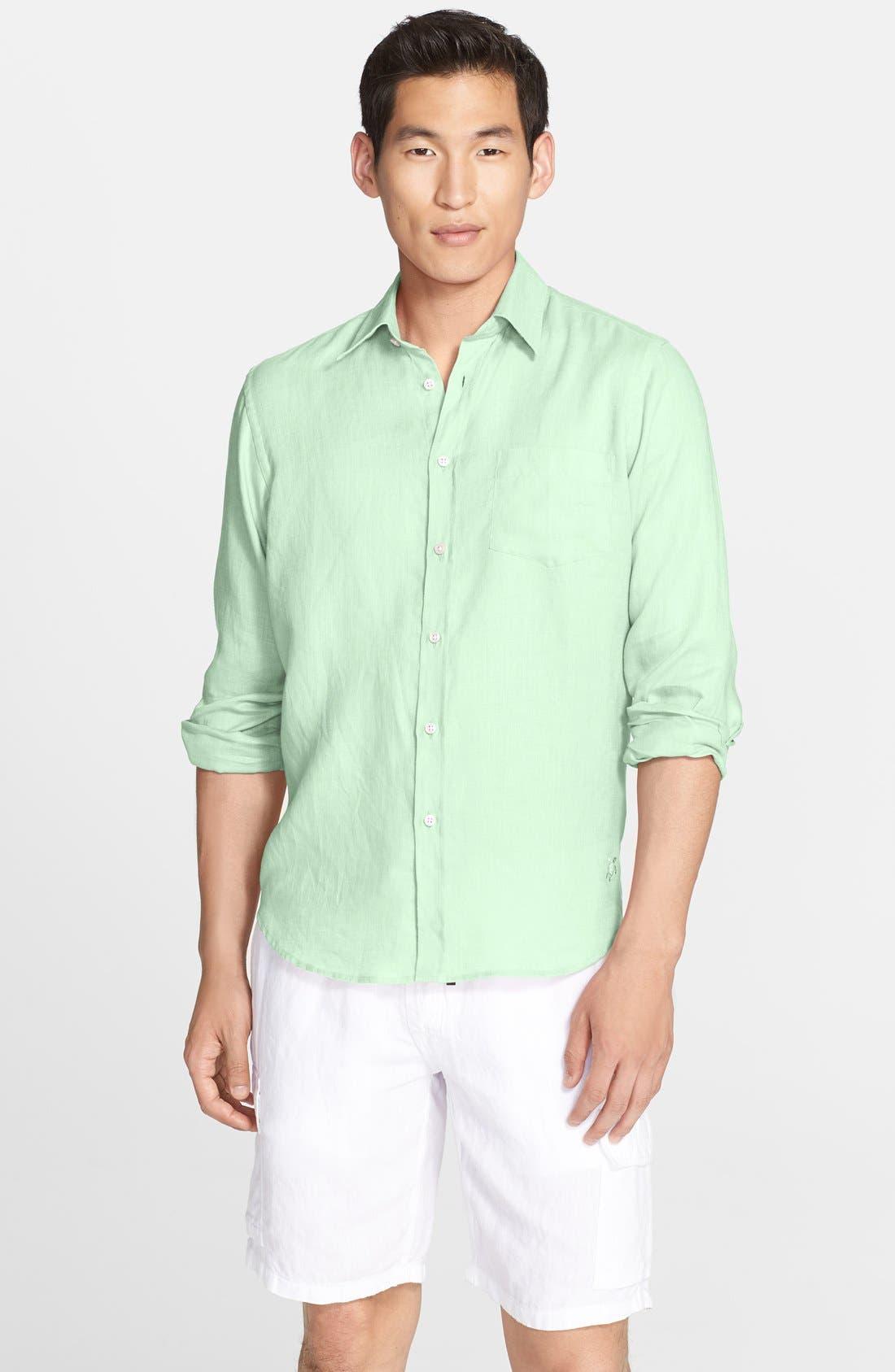'Caroubier' Linen Shirt,                             Main thumbnail 6, color,