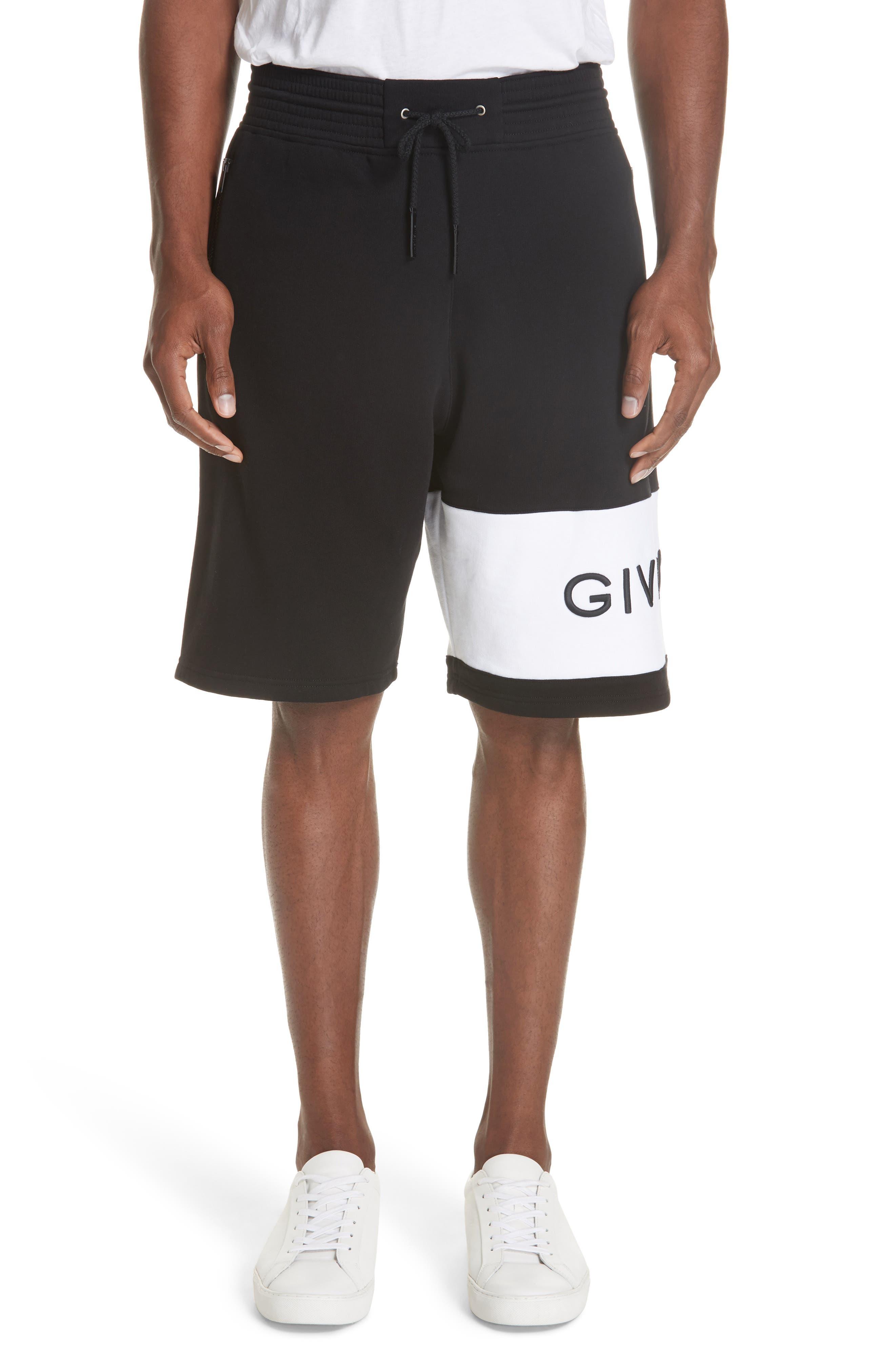 Knit Bermuda Shorts,                         Main,                         color, BLACK