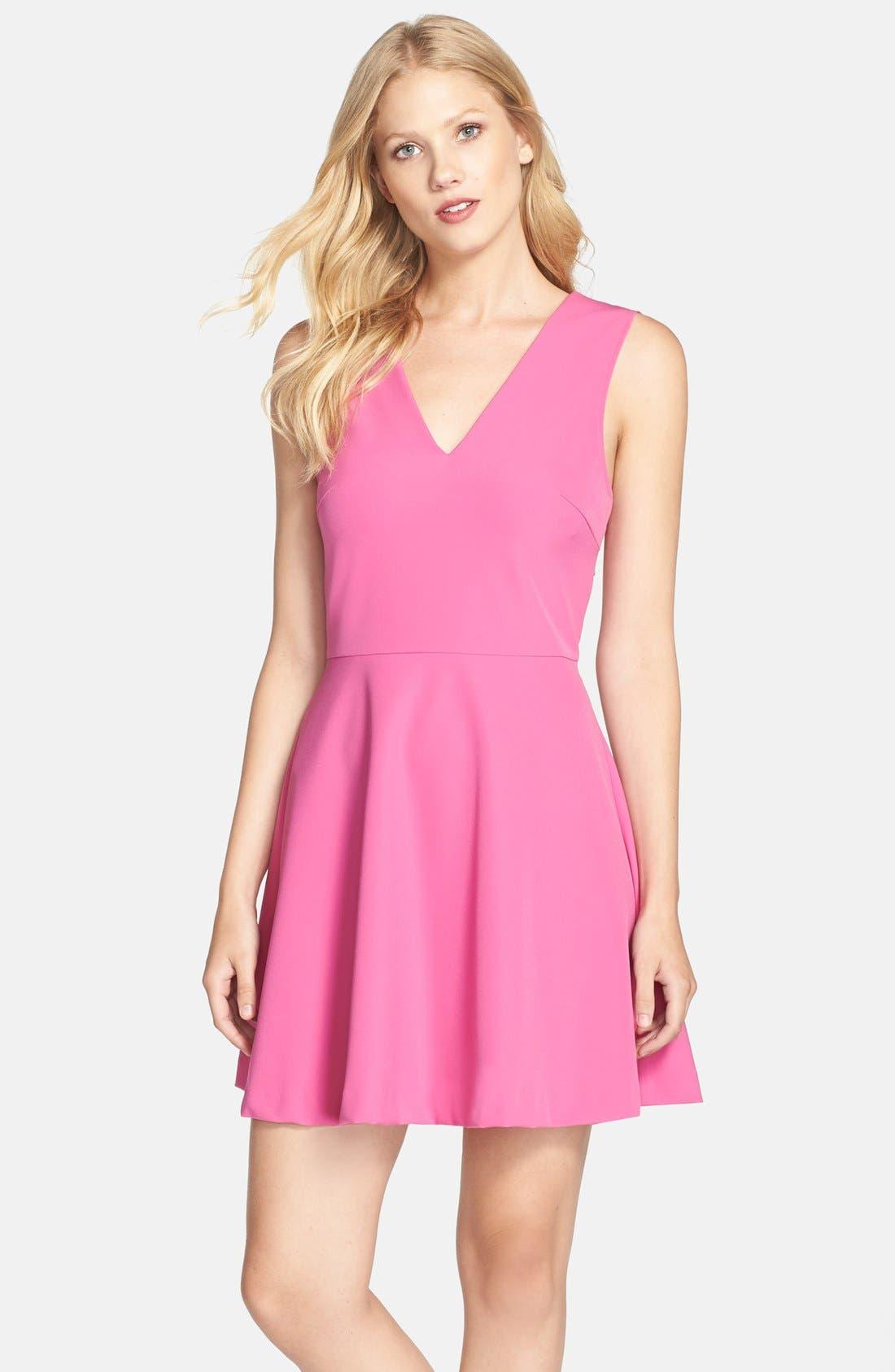 Bianca Back Cutout Fit & Flare Dress,                             Main thumbnail 15, color,
