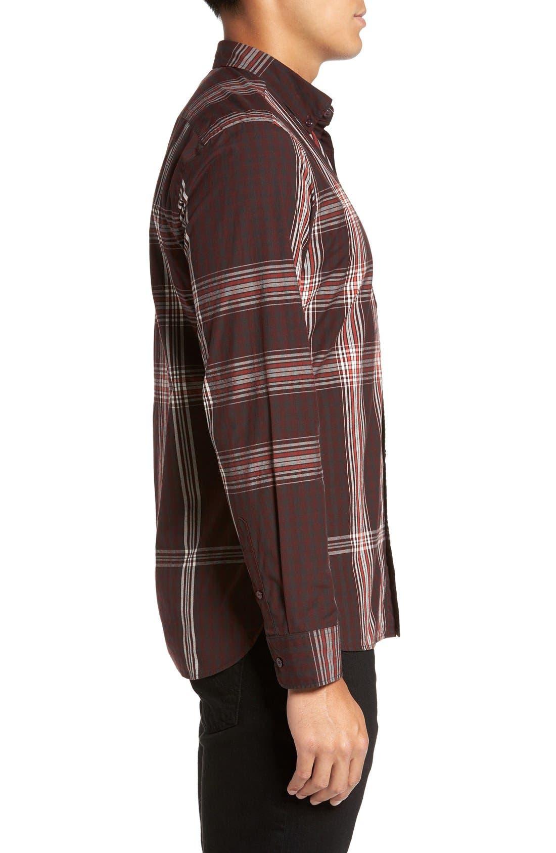 'Brit' Trim Fit Long Sleeve Sport Shirt,                             Alternate thumbnail 4, color,                             543