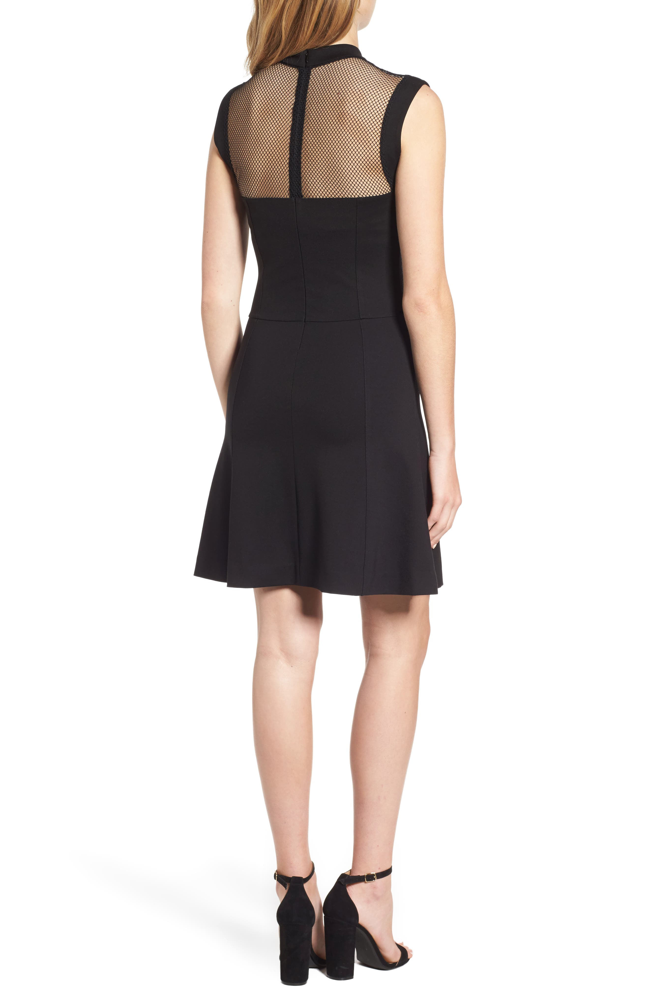Galactica Fit & Flare Dress,                             Alternate thumbnail 2, color,                             001