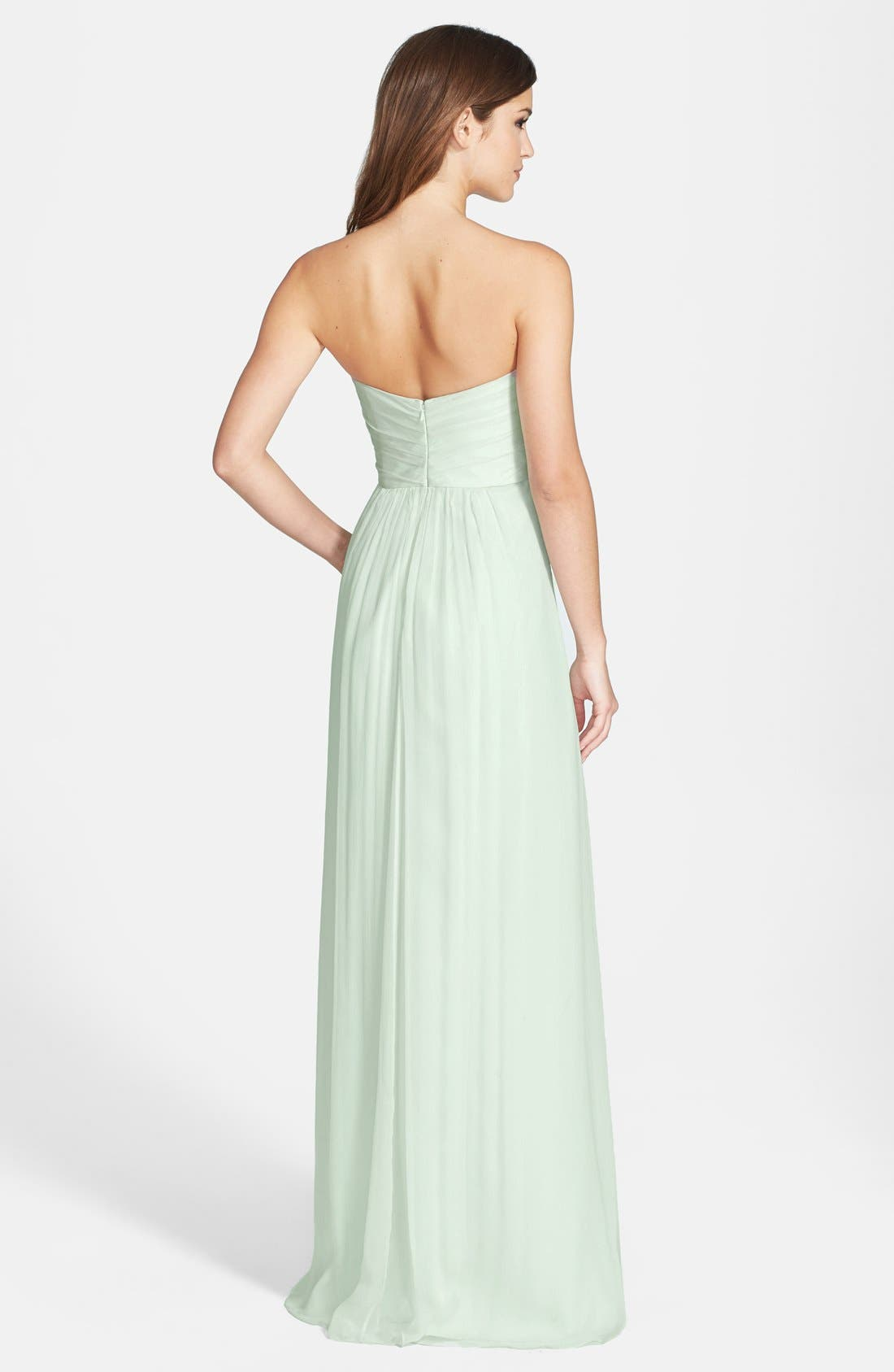 Strapless Crinkle Chiffon Gown,                             Alternate thumbnail 27, color,