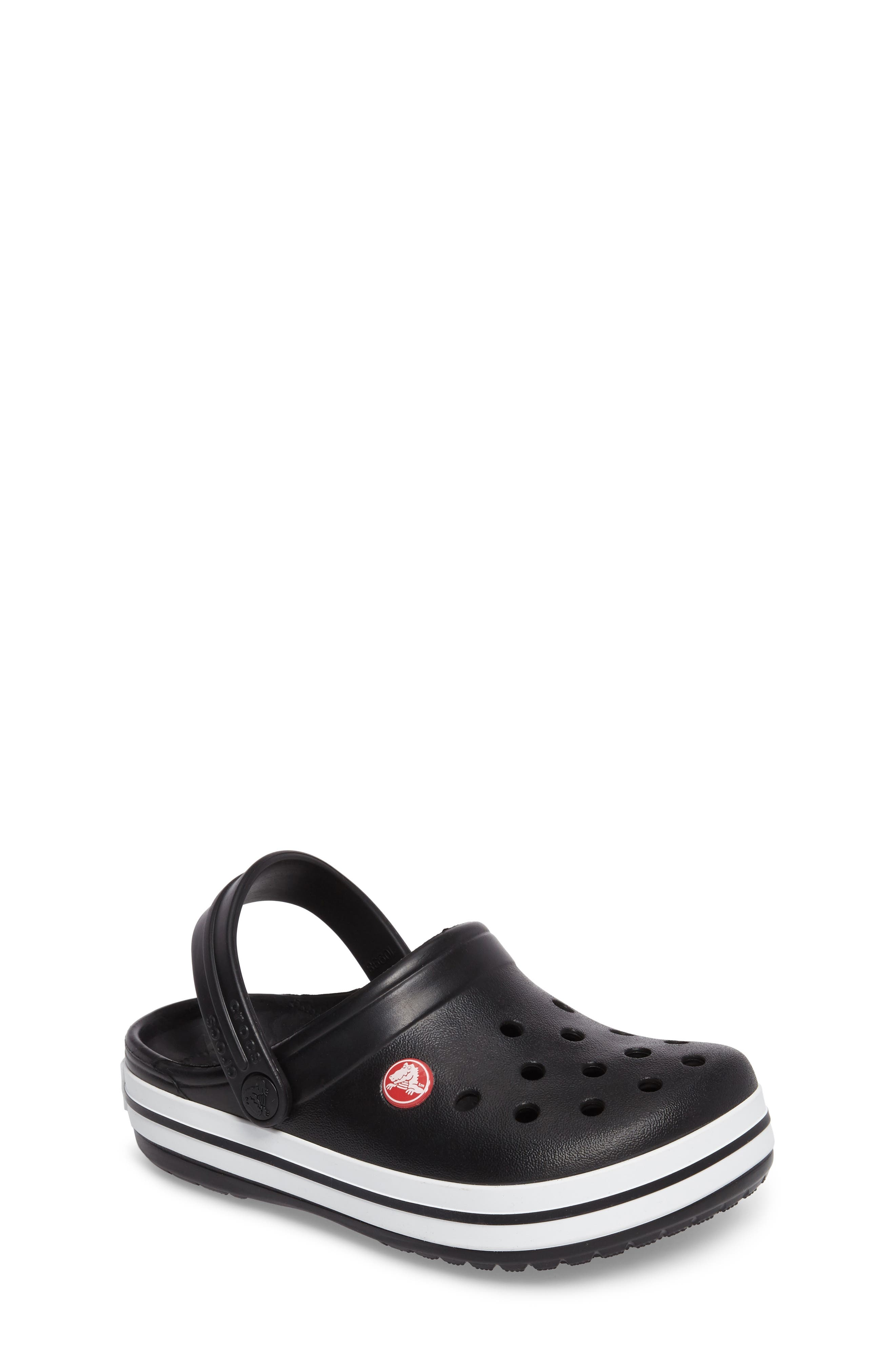 Crocband Clog, Main, color, BLACK