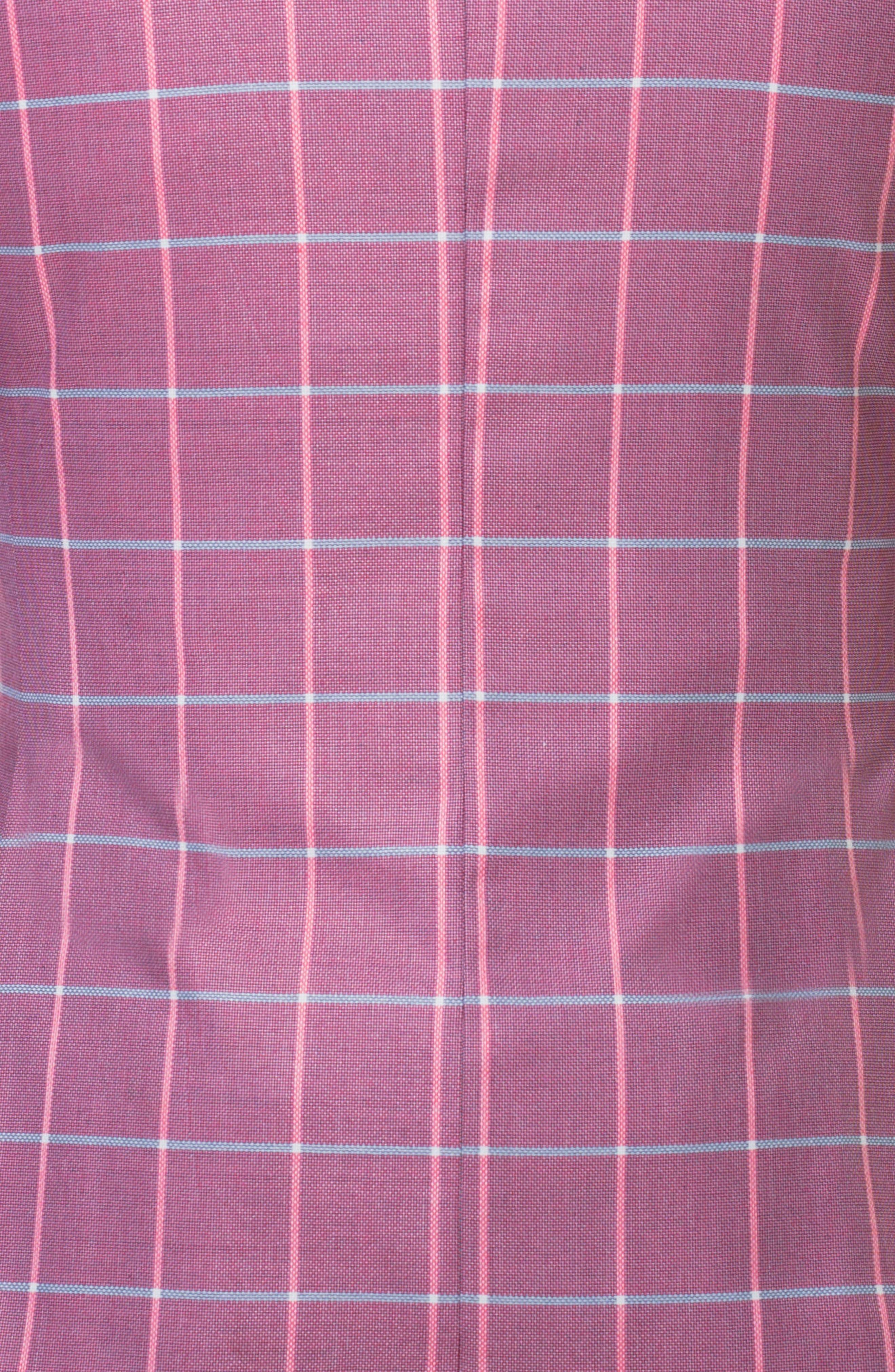 Descartes Check Linen & Cotton Blend Sport Coat,                             Alternate thumbnail 4, color,