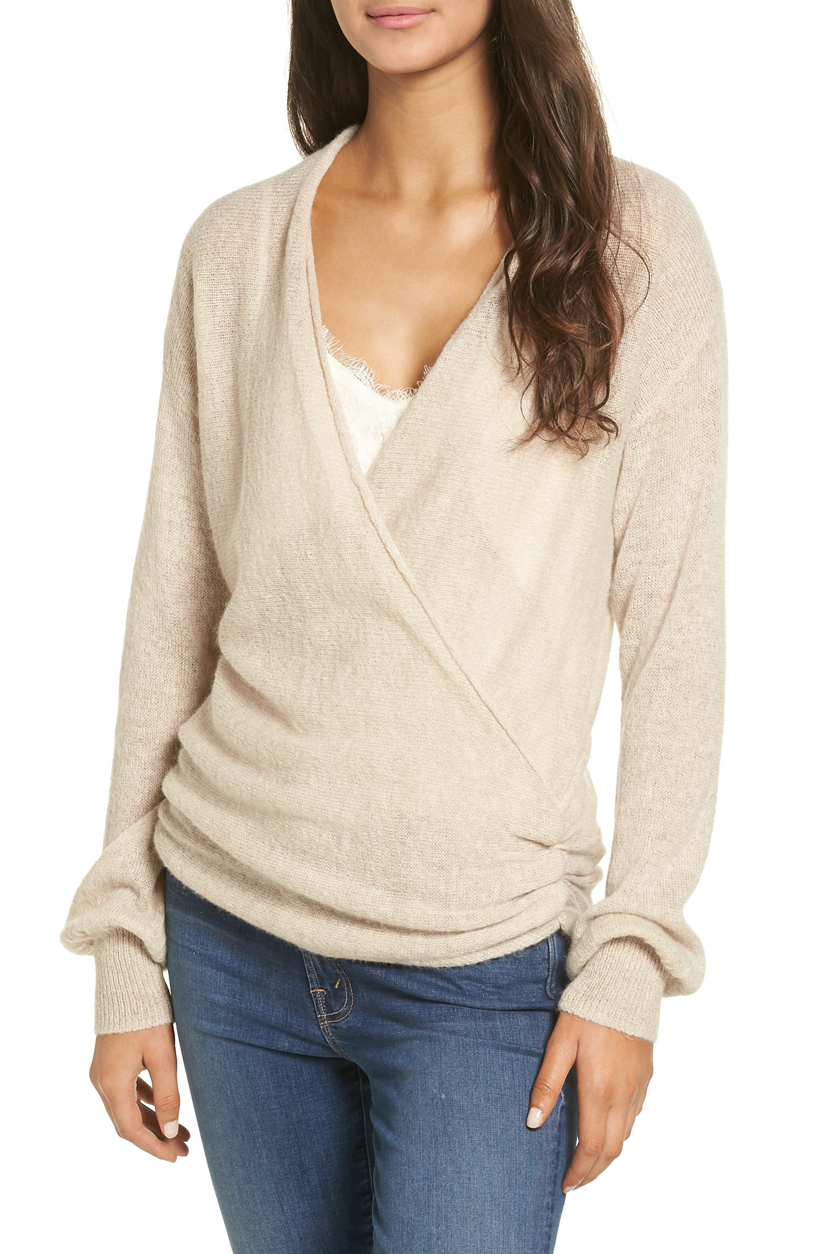 Wrap Front Sweater,                         Main,                         color, 235