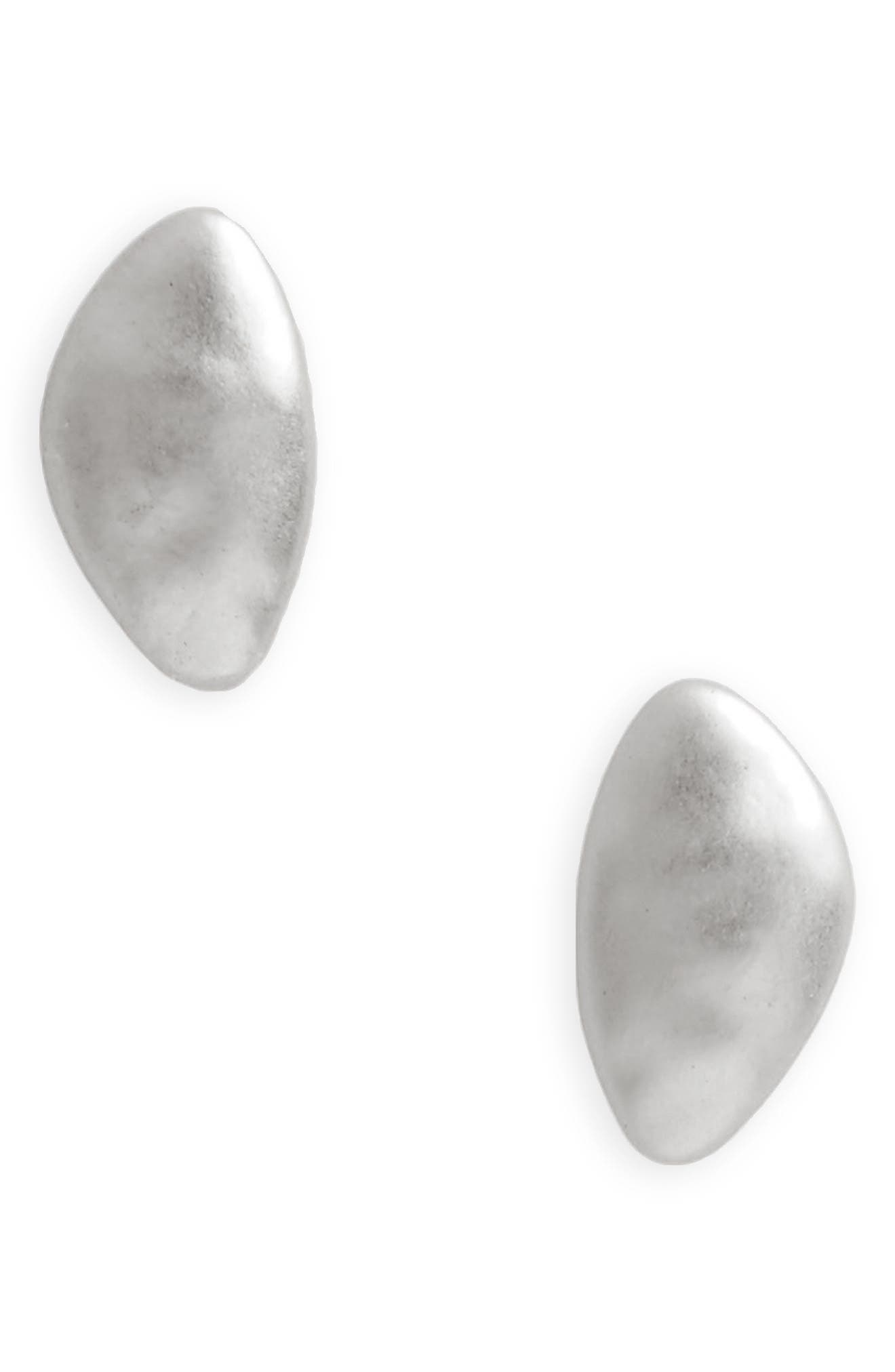 Brushed Metal Stud Earrings,                         Main,                         color, 040