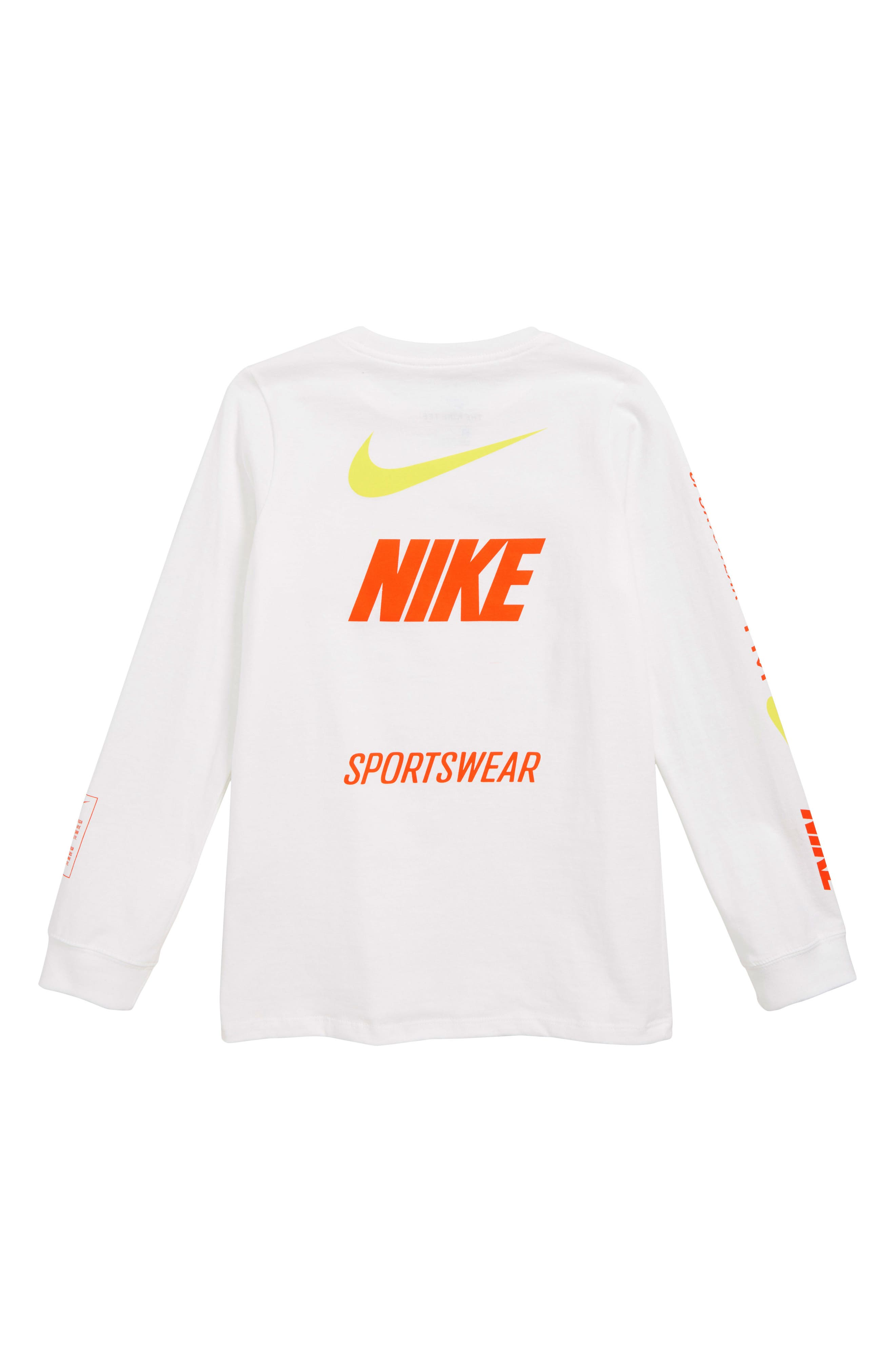Sportswear Logo T-Shirt,                             Alternate thumbnail 2, color,                             WHITE