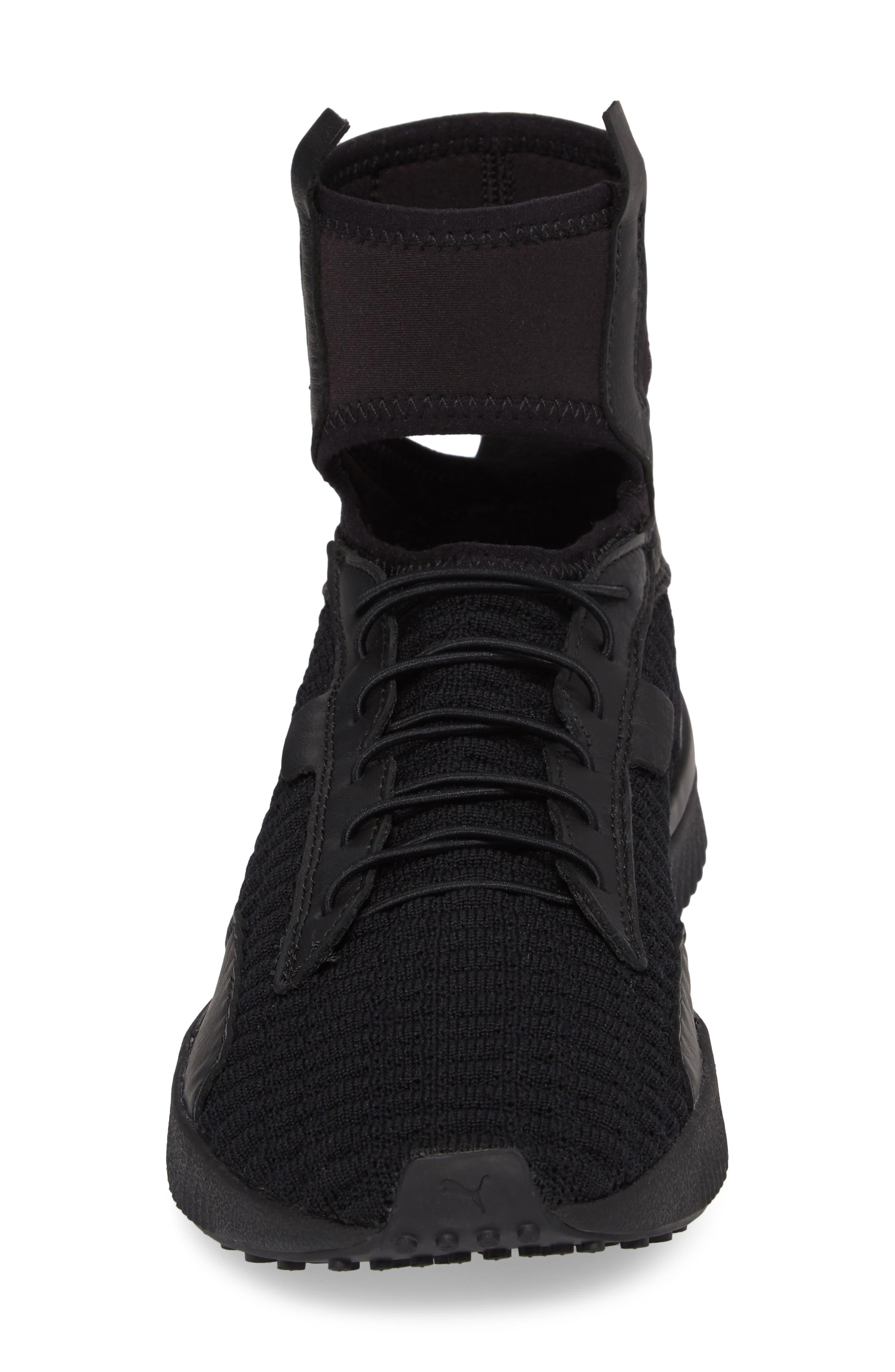 FENTY PUMA by Rihanna High Top Sneaker,                             Alternate thumbnail 4, color,                             001