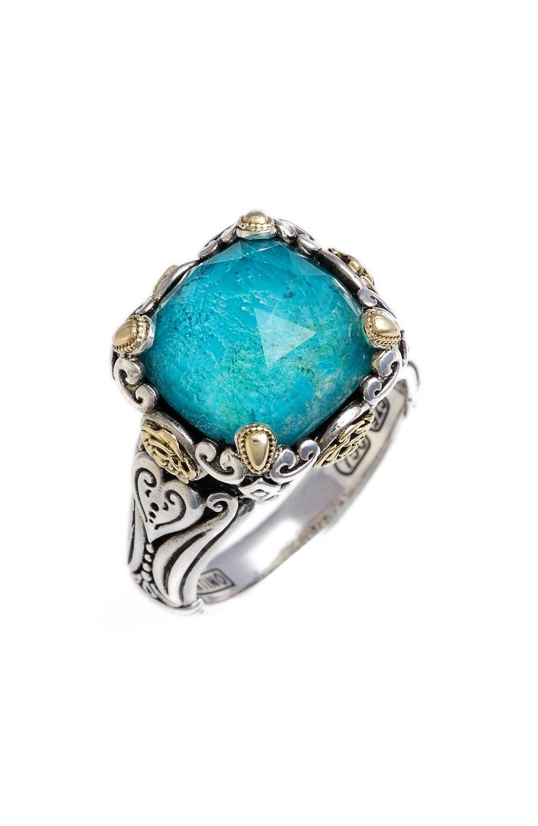 'Iliada' Doublet Ring,                             Main thumbnail 1, color,                             BLUE/ GREEN