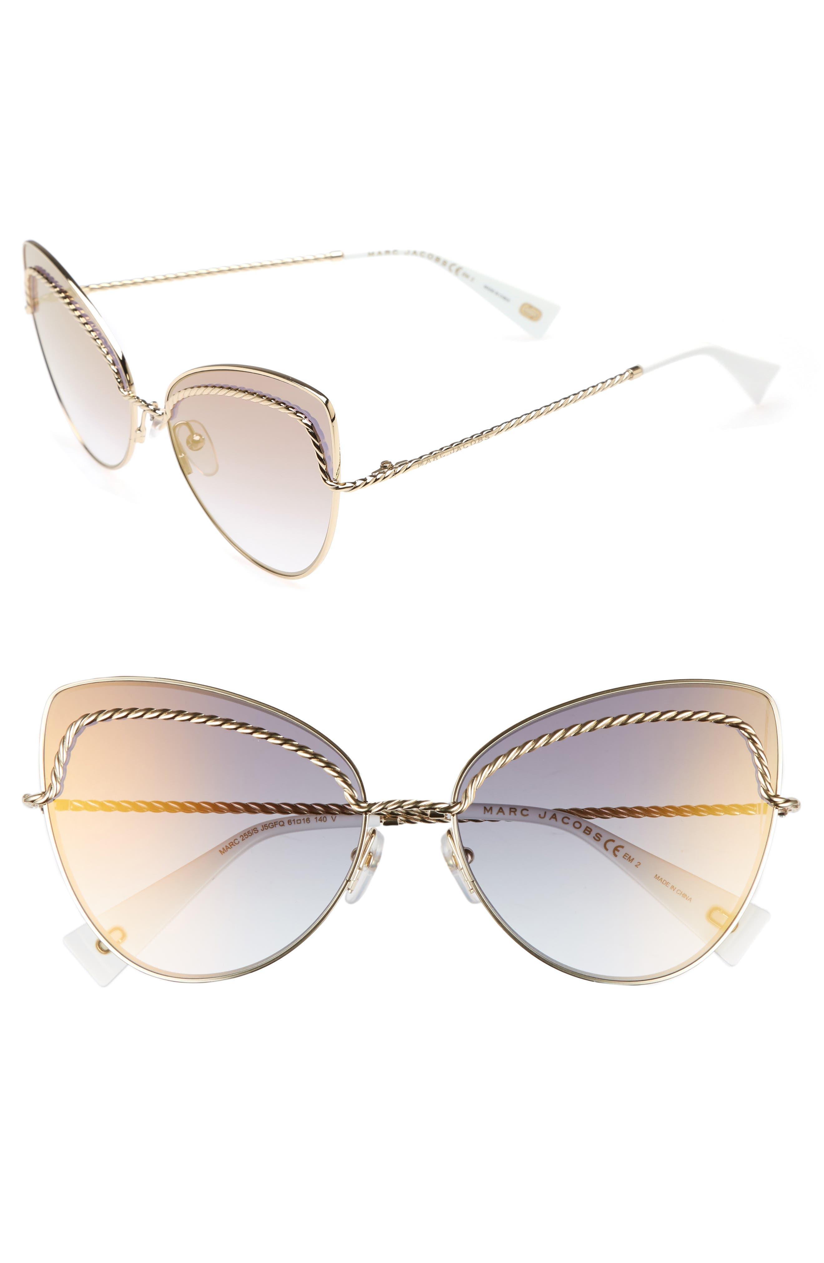 61mm Butterfly Sunglasses,                             Main thumbnail 2, color,