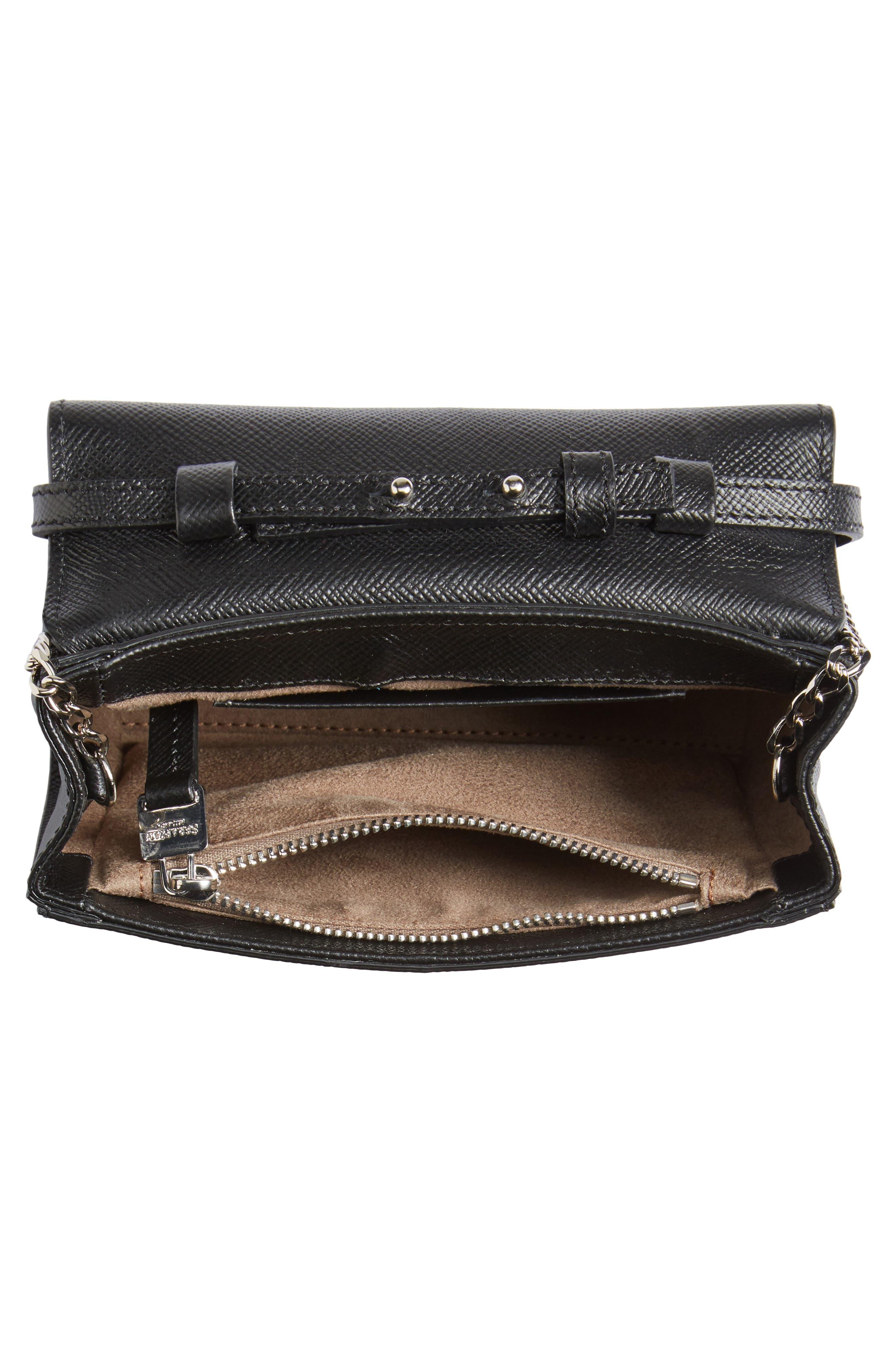 Mini Ilenea Leather Crossbody Bag,                             Alternate thumbnail 5, color,                             001