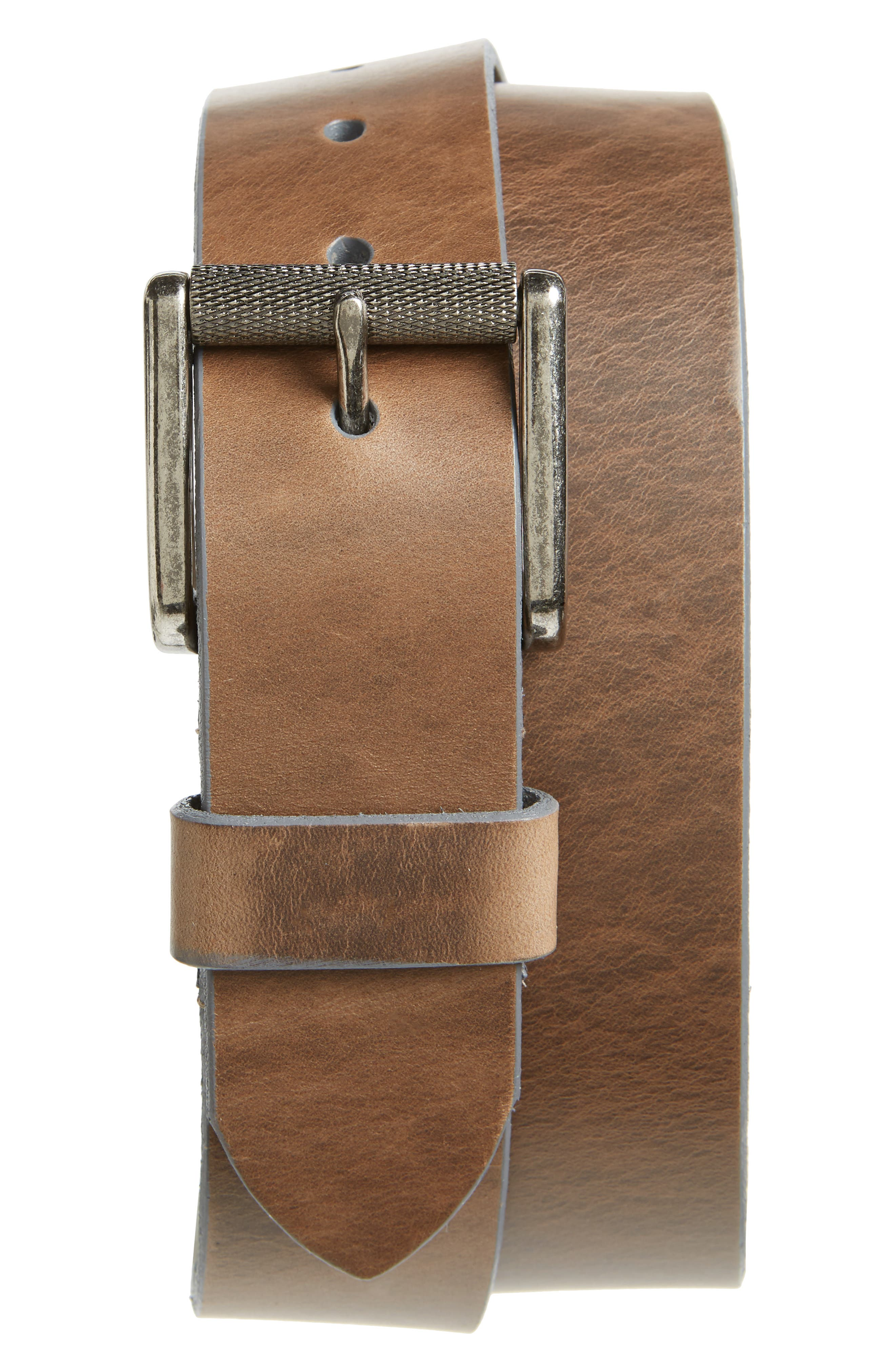 Norris Horween<sup>®</sup> Leather Belt,                             Main thumbnail 1, color,                             220