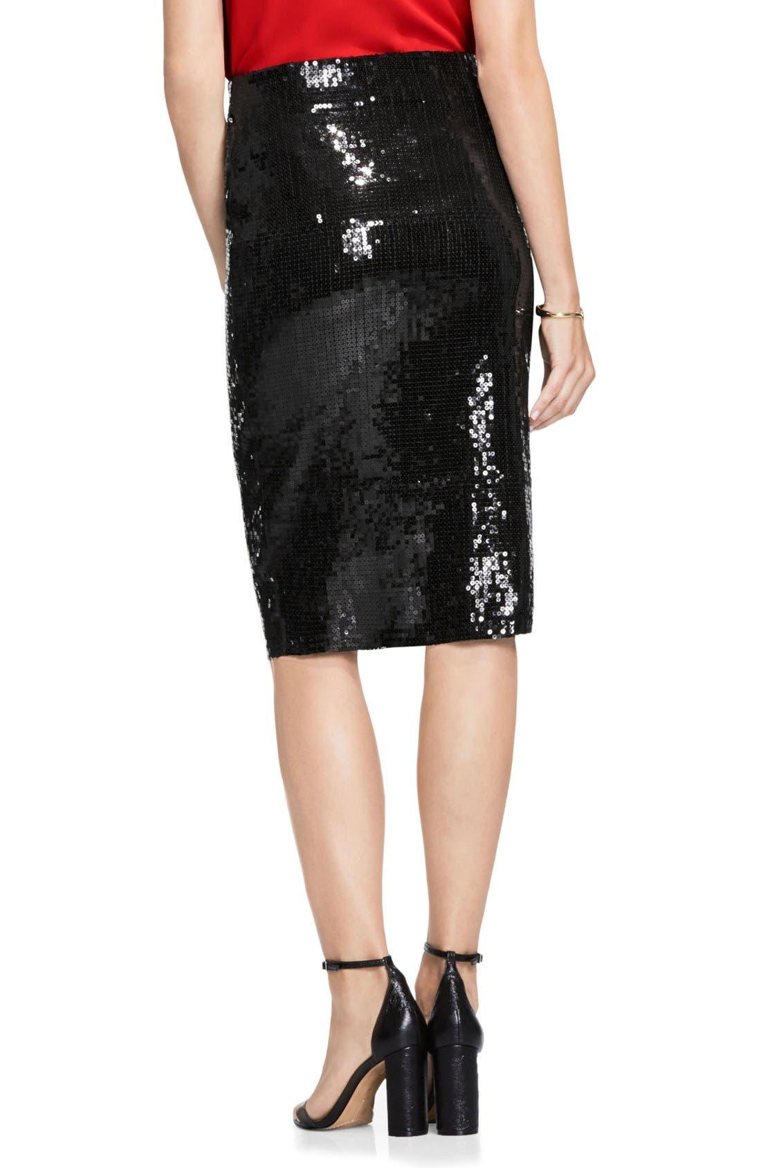 Sequin Pencil Skirt,                             Alternate thumbnail 2, color,                             006