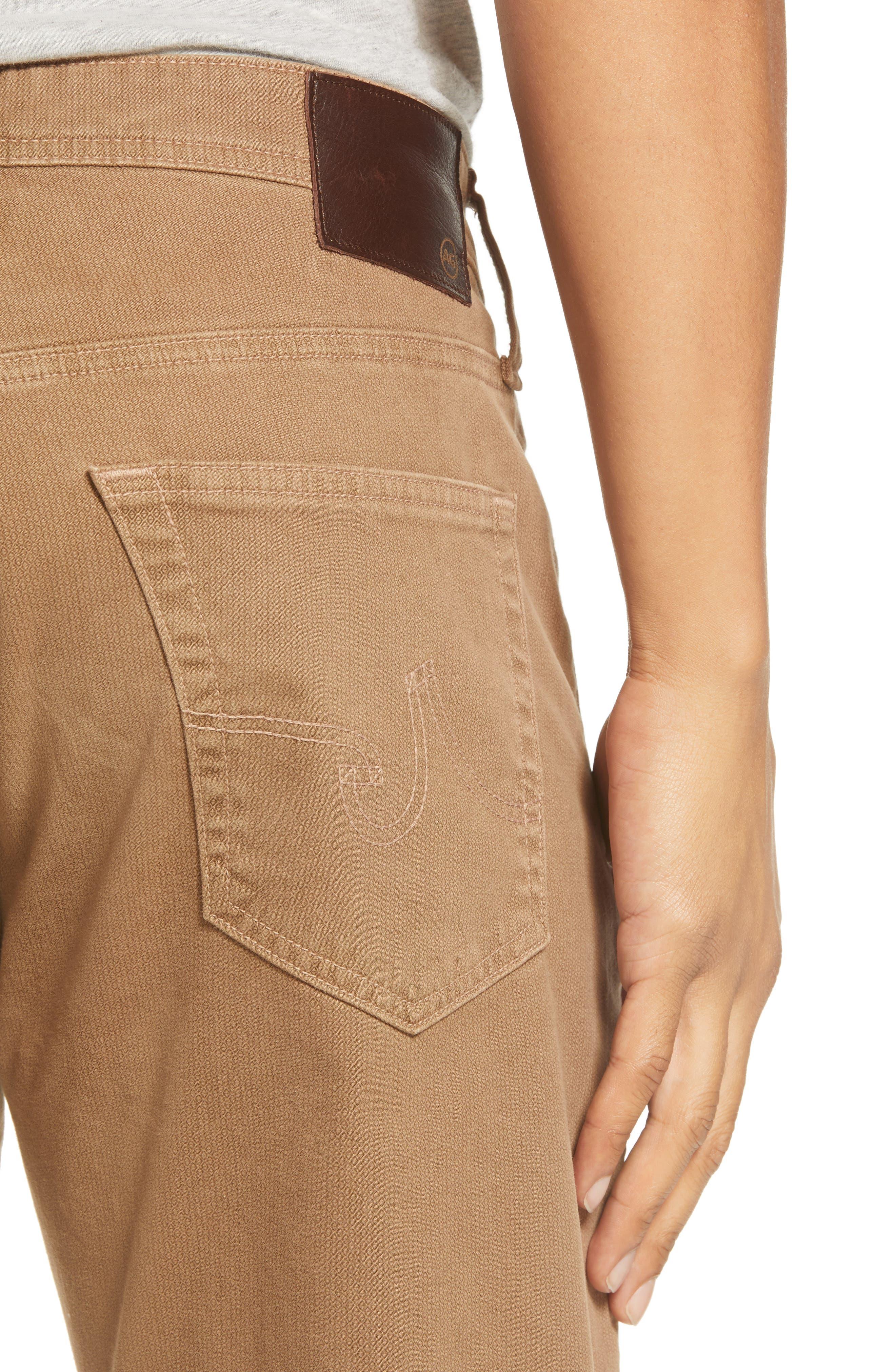 Everett SUD Print Slim Straight Leg Pants,                             Alternate thumbnail 4, color,                             MICRO GEO WHEAT