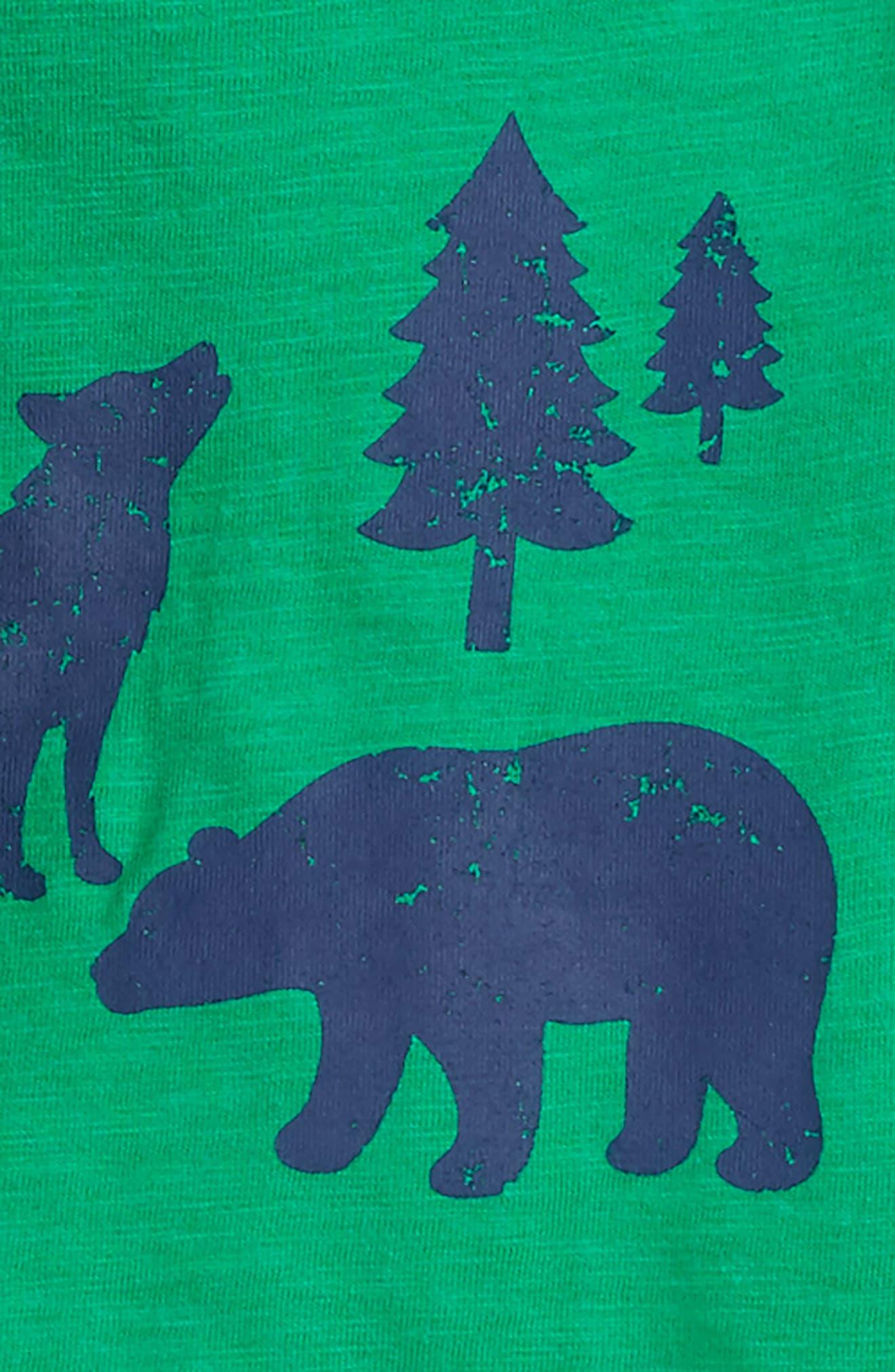 Denim Vest, T-shirt & Pants Set,                             Alternate thumbnail 2, color,                             361