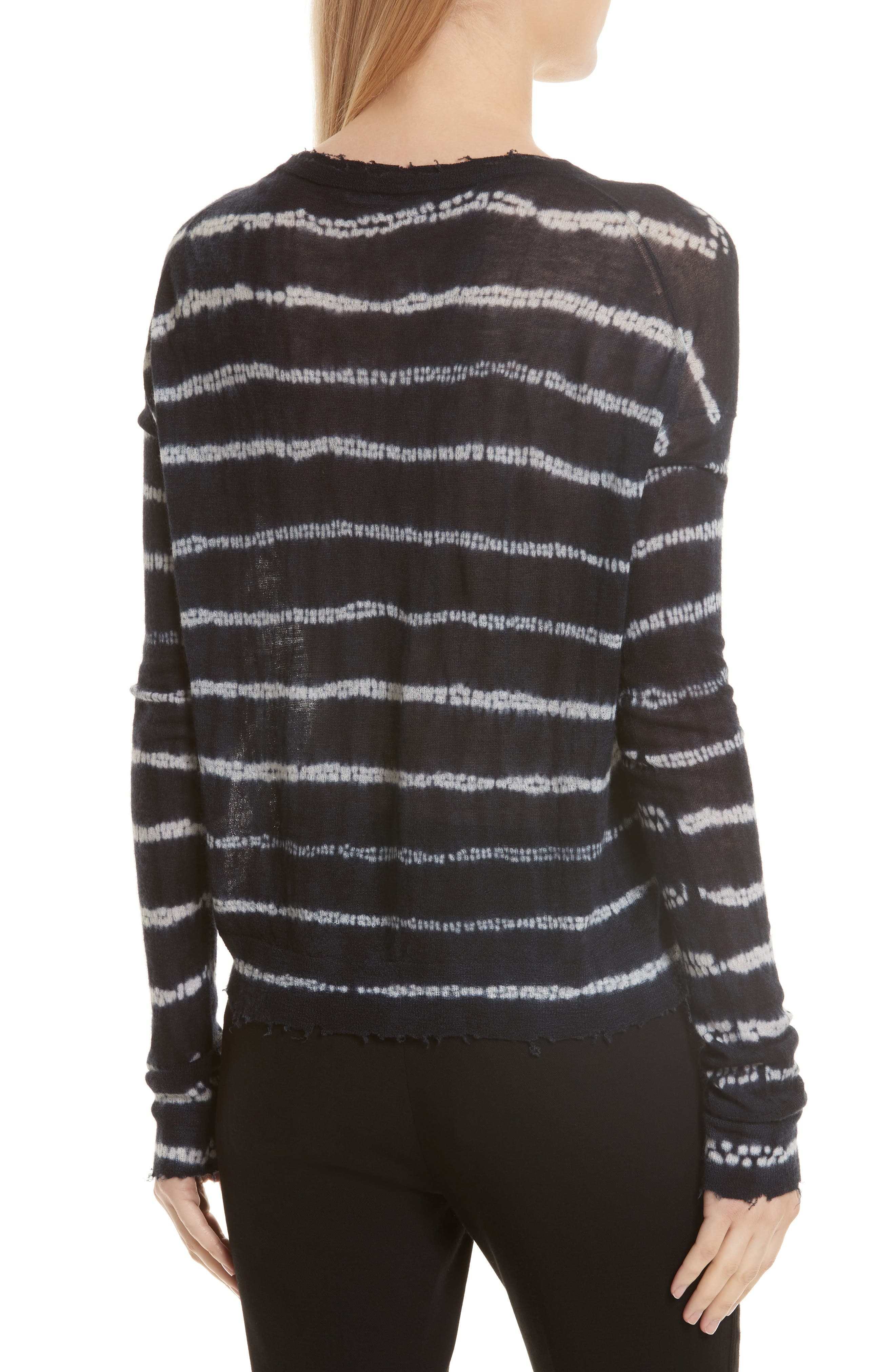 Grunge Stripe Cashmere Sweater,                             Alternate thumbnail 2, color,                             498