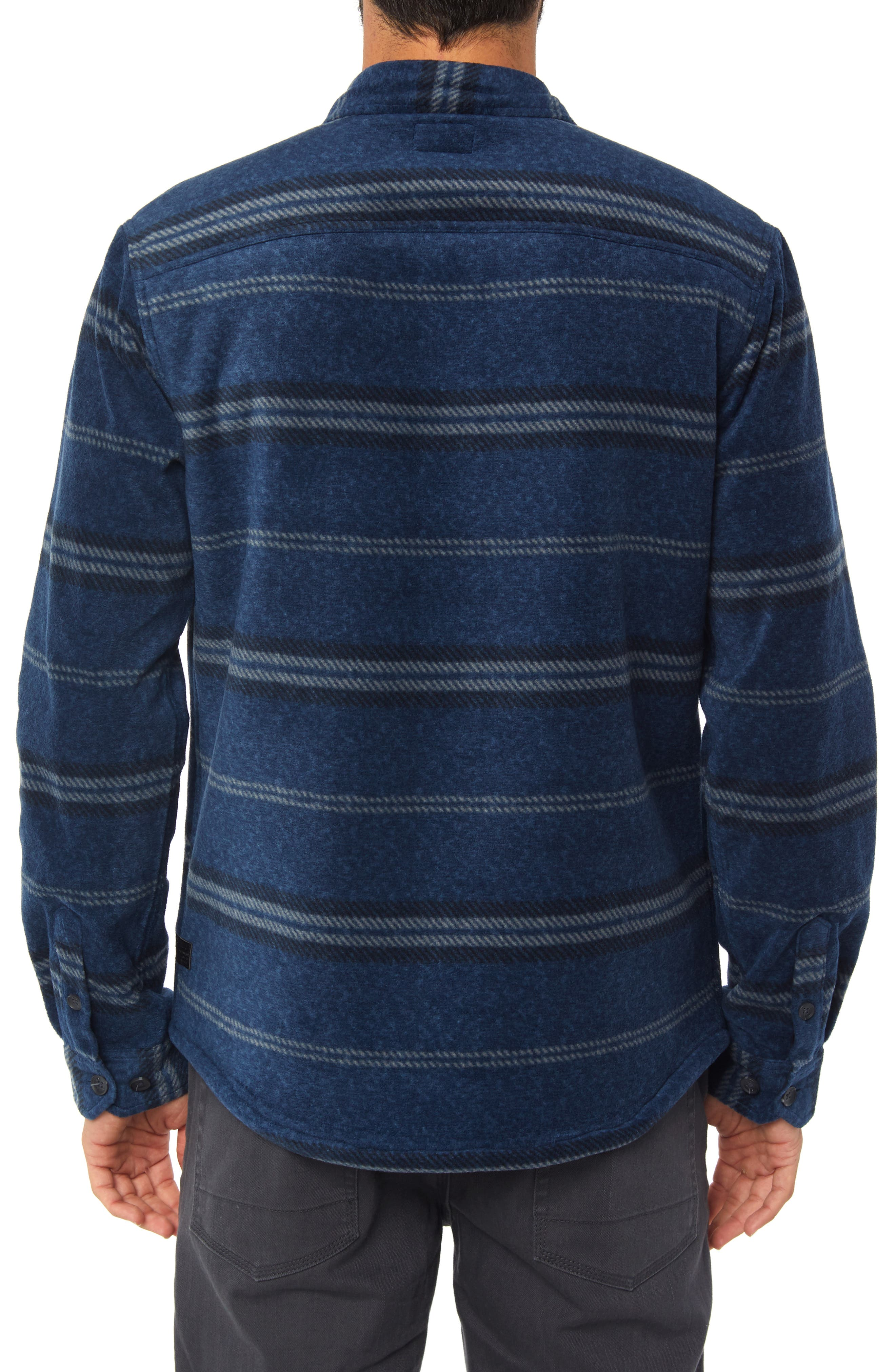 Glacier Fleece Lined Shirt Jacket,                             Alternate thumbnail 2, color,                             HEATHER NAVY