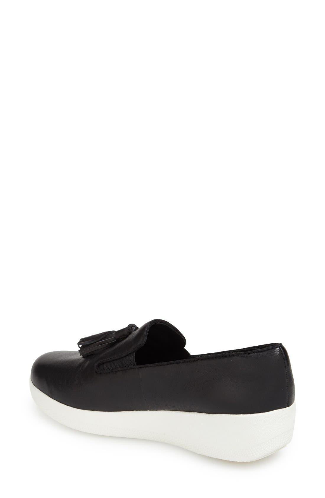 Tassle Superskate Wedge Sneaker,                             Alternate thumbnail 3, color,                             001