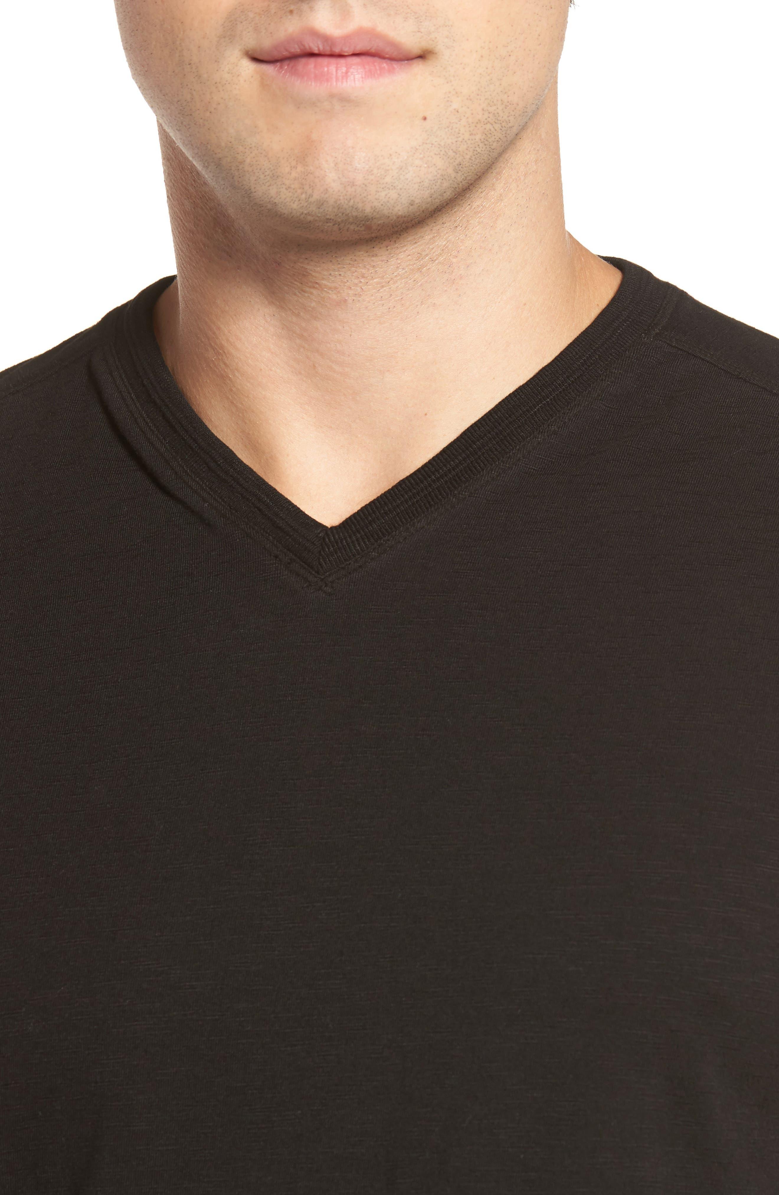 Virgil Stretch Jersey T-Shirt,                             Alternate thumbnail 4, color,                             001