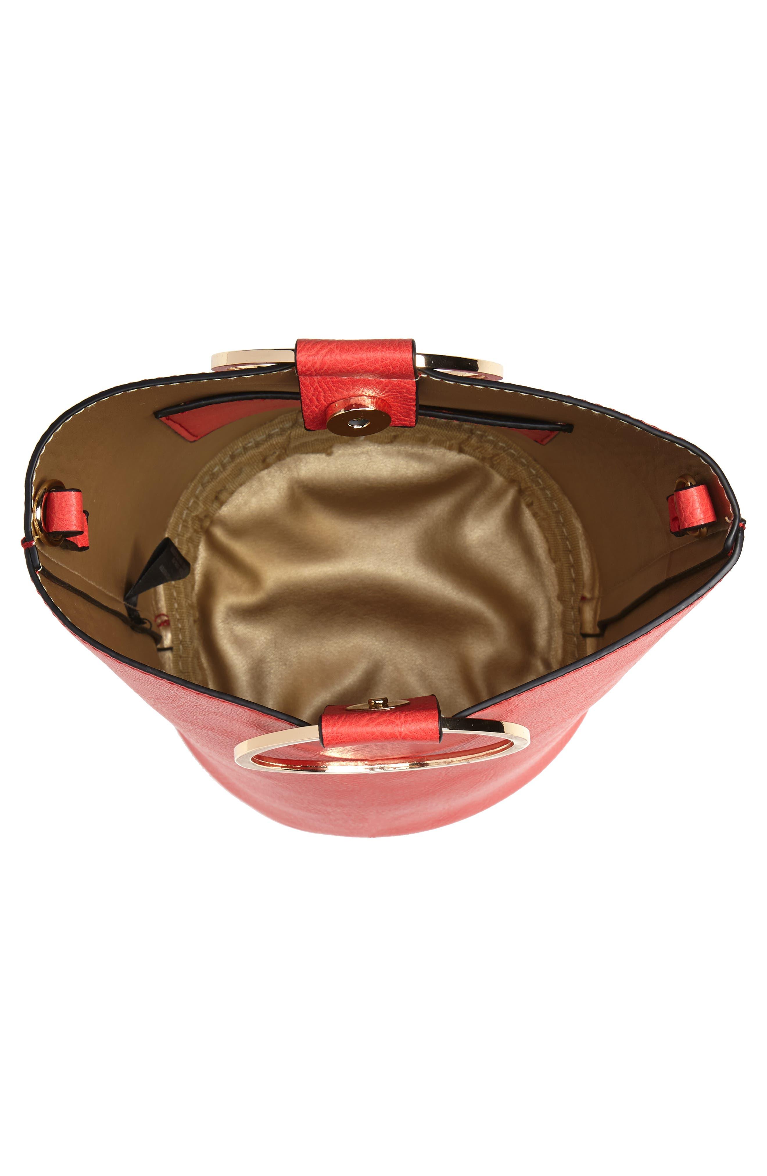 Mali + Lili Ilia Vegan Leather Ring Handle Bucket Bag,                             Alternate thumbnail 12, color,