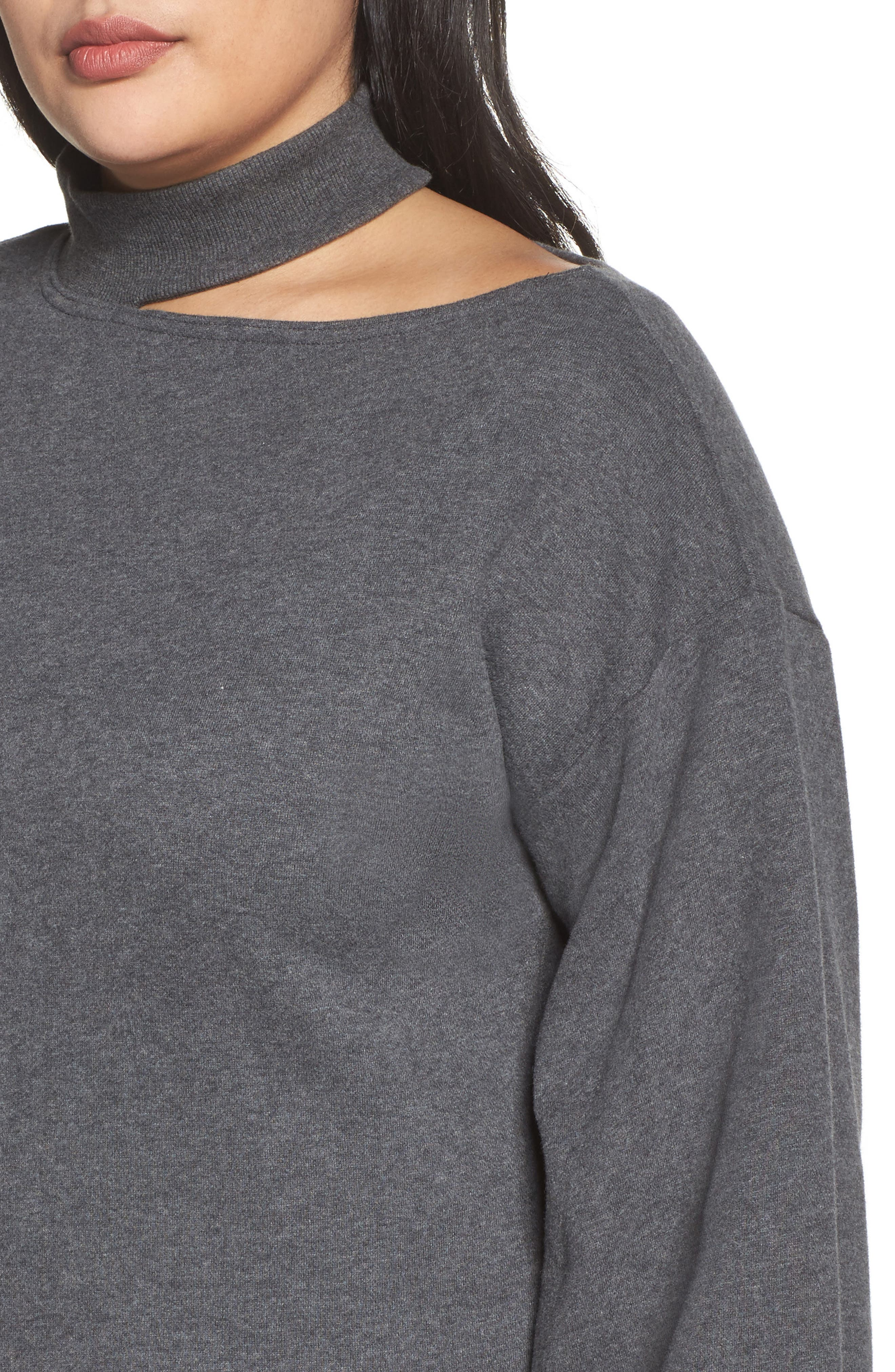 Cutout Mock Neck Top,                             Alternate thumbnail 4, color,                             023