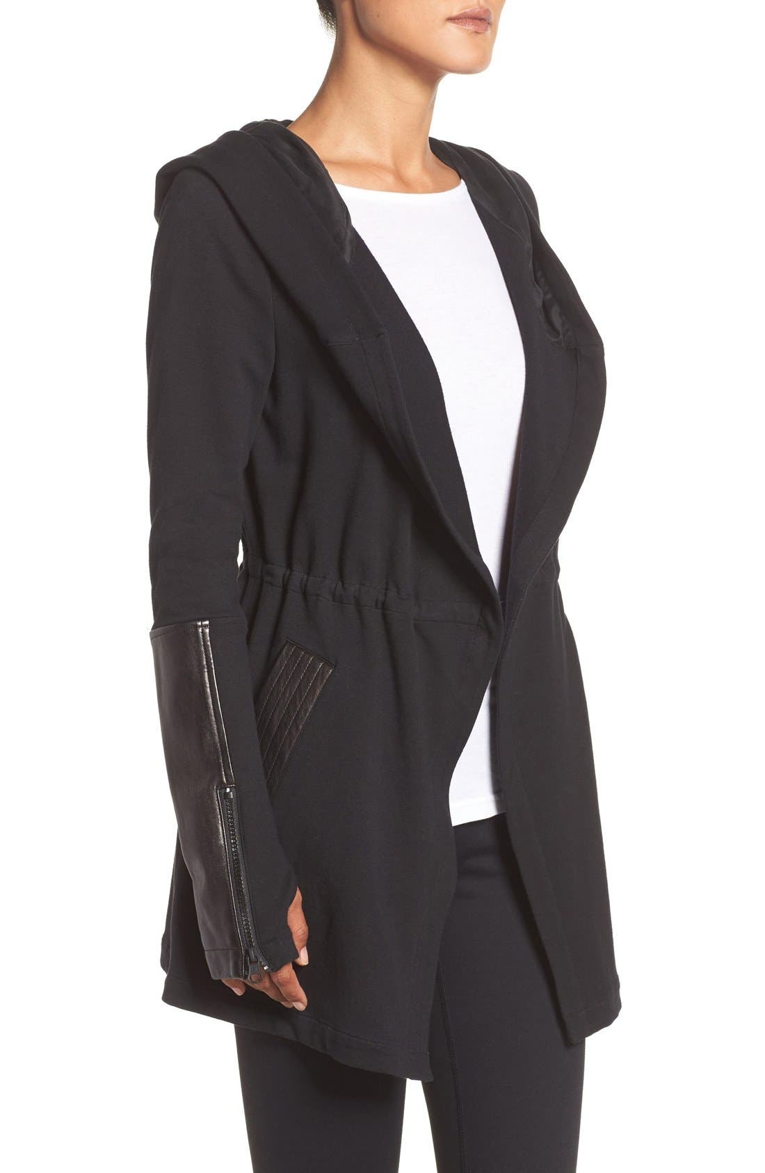 Traveler Wrap Jacket,                             Alternate thumbnail 9, color,                             BLACK/ BLACK