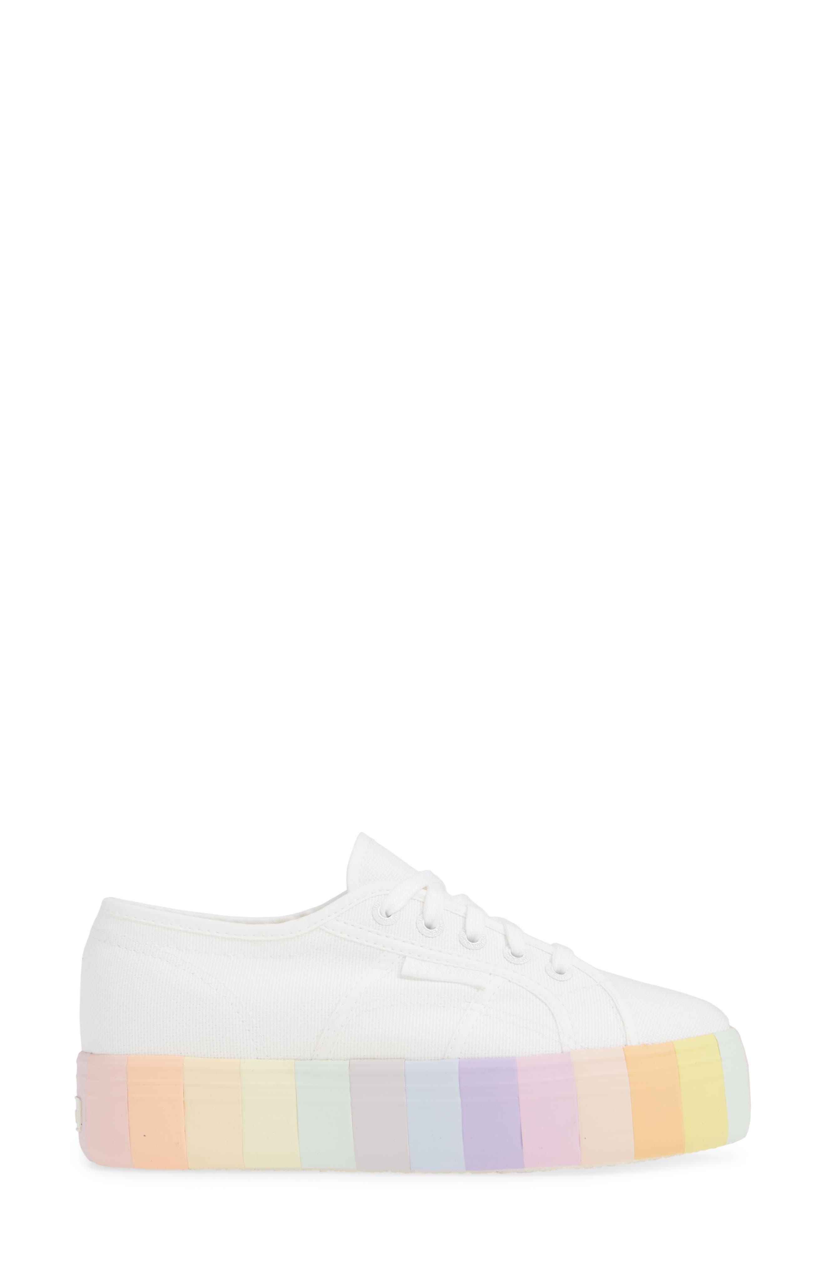 2790 Stripe Platform Sneaker,                             Alternate thumbnail 3, color,                             MULTI