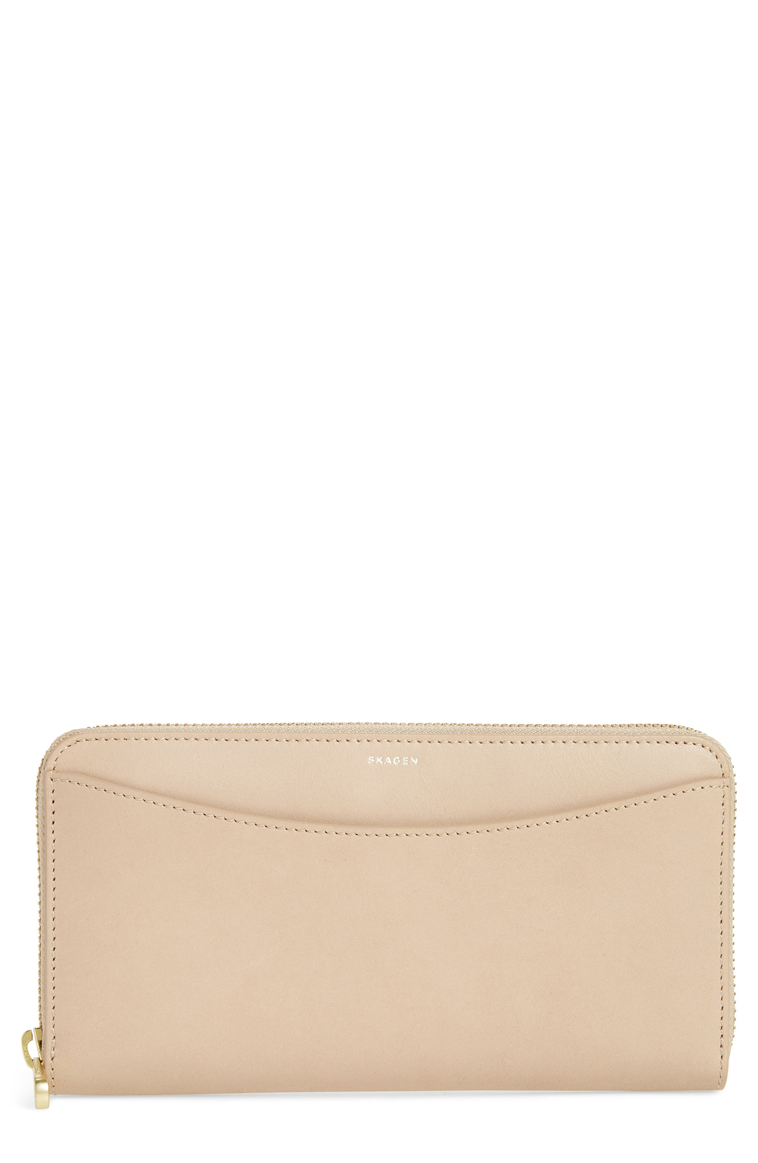 Leather Continental Wallet,                         Main,                         color, 251