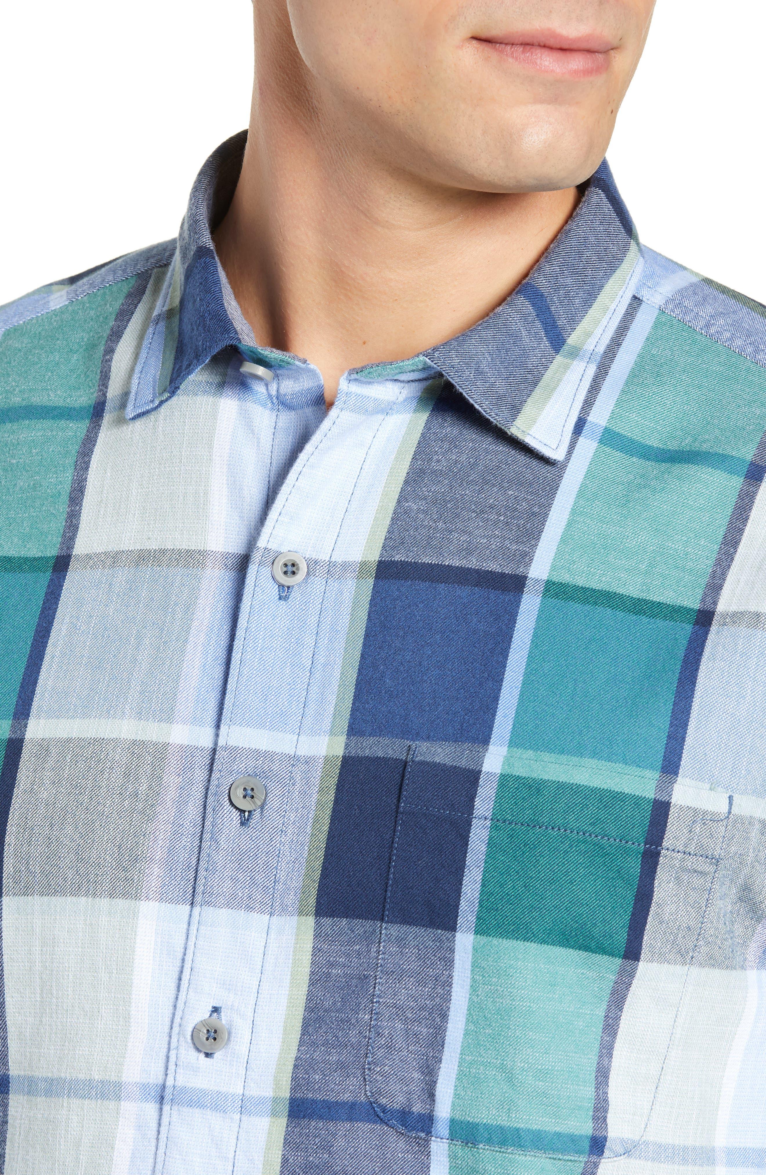 Heredia Plaid Sport Shirt,                             Alternate thumbnail 2, color,                             ZEPHYR BLUE