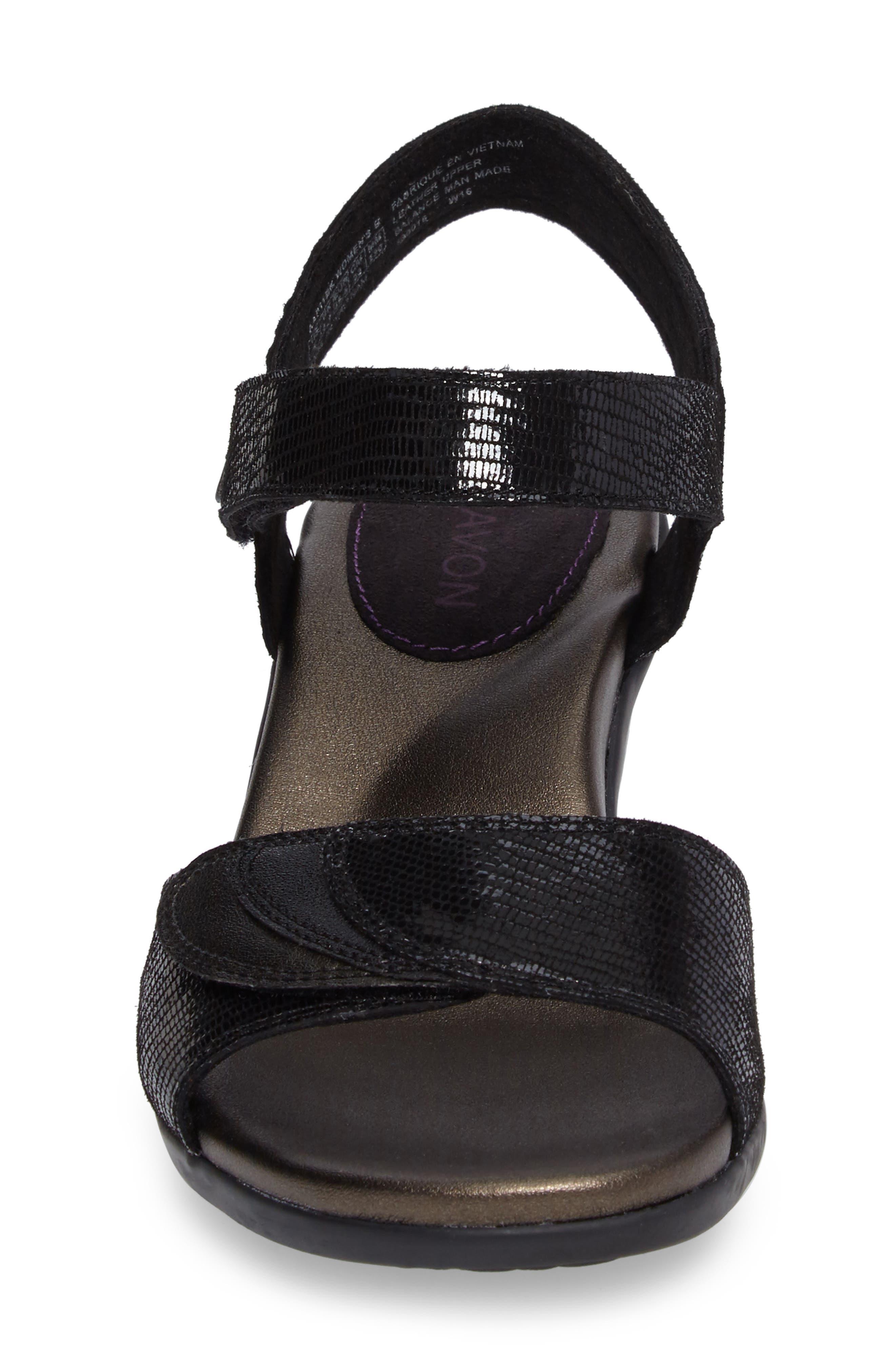 Medici Sandal,                             Alternate thumbnail 4, color,                             BLACK FABRIC