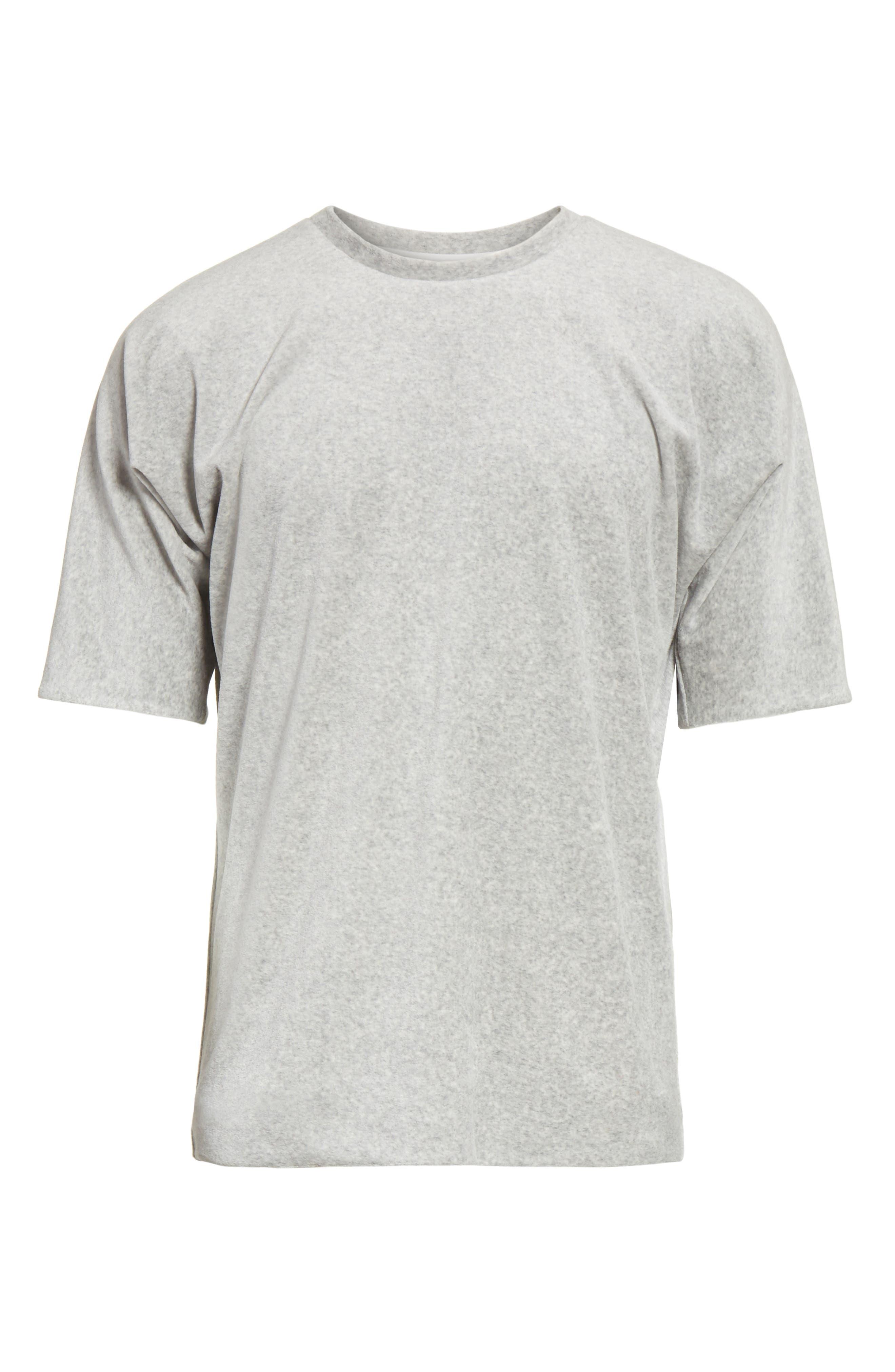 Reversible Double Layer T-Shirt,                             Alternate thumbnail 6, color,                             LIGHT GREY