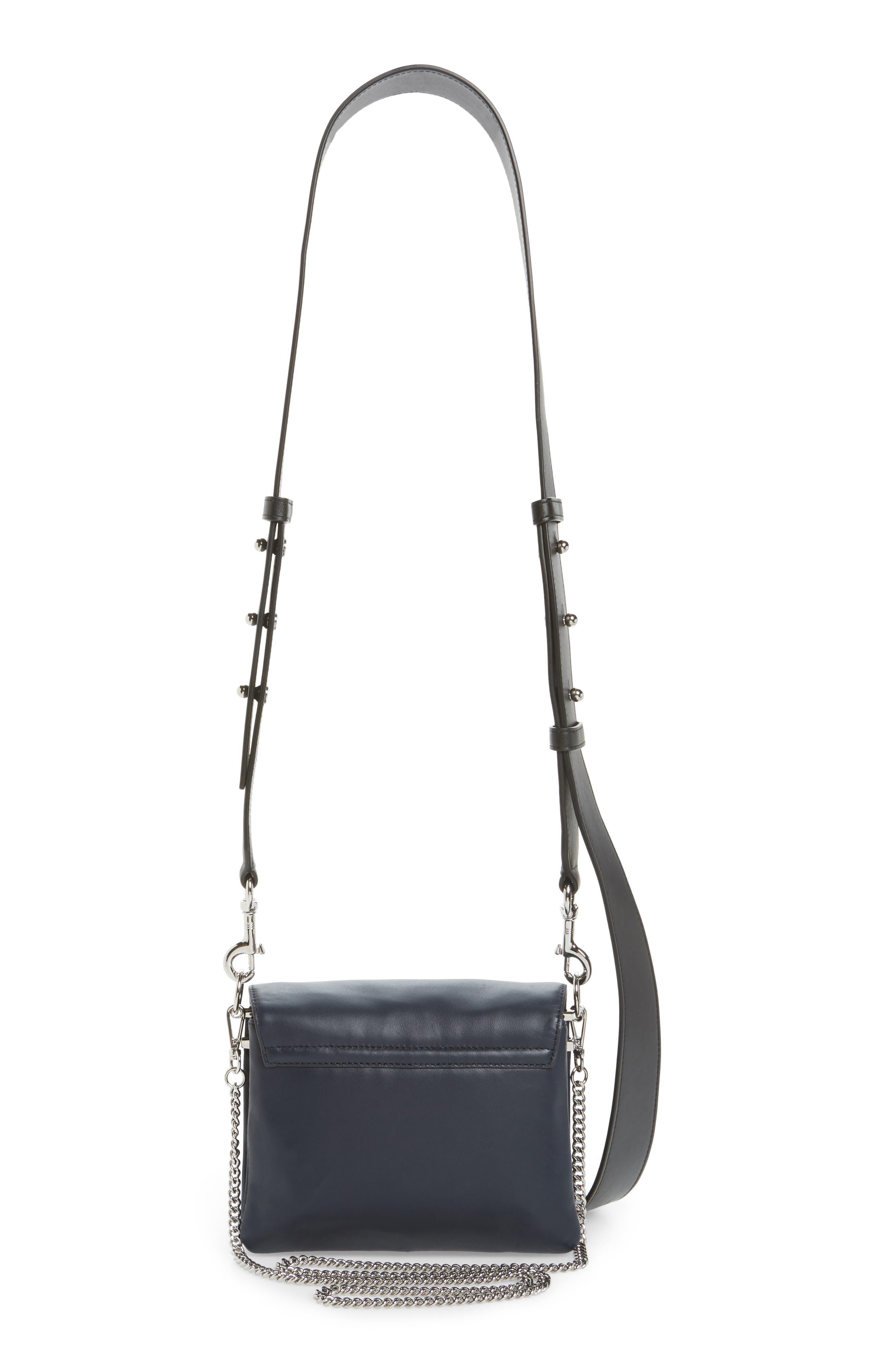 Zep Lambskin Leather Shoulder Bag,                             Alternate thumbnail 5, color,