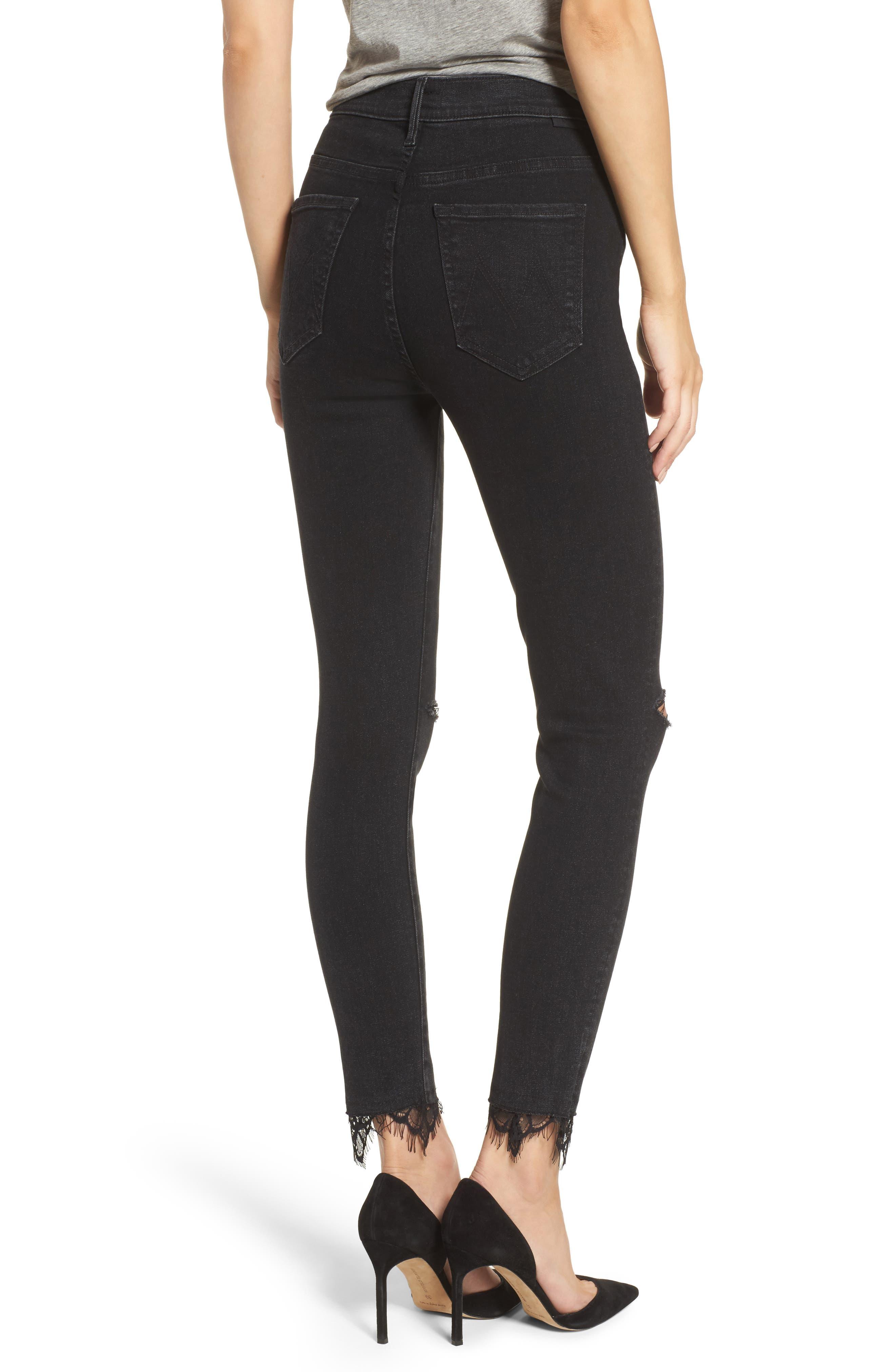 Swooner Dagger Ankle Skinny Jeans,                             Alternate thumbnail 2, color,                             001