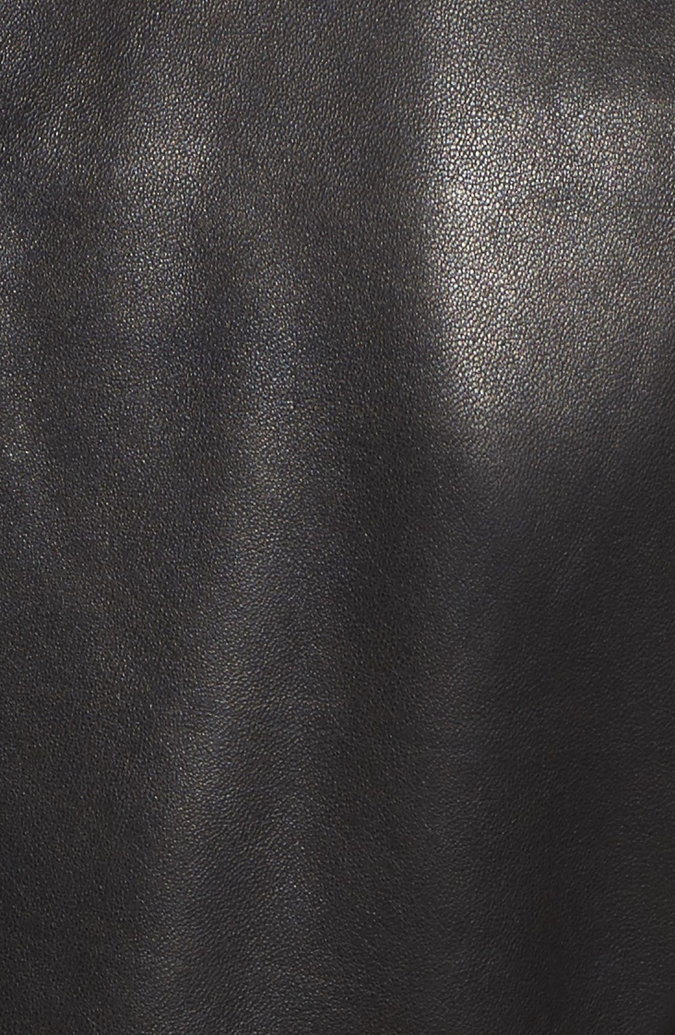 Leather Jacket,                             Alternate thumbnail 6, color,