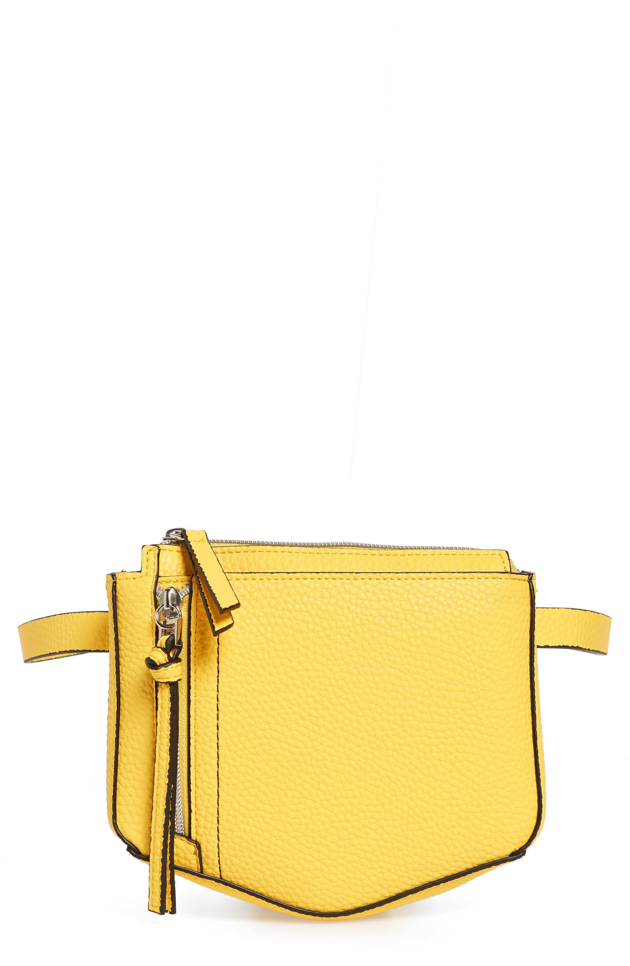DANIELLE NICOLE Elia Faux Leather Belt Bag - Yellow in Mustard