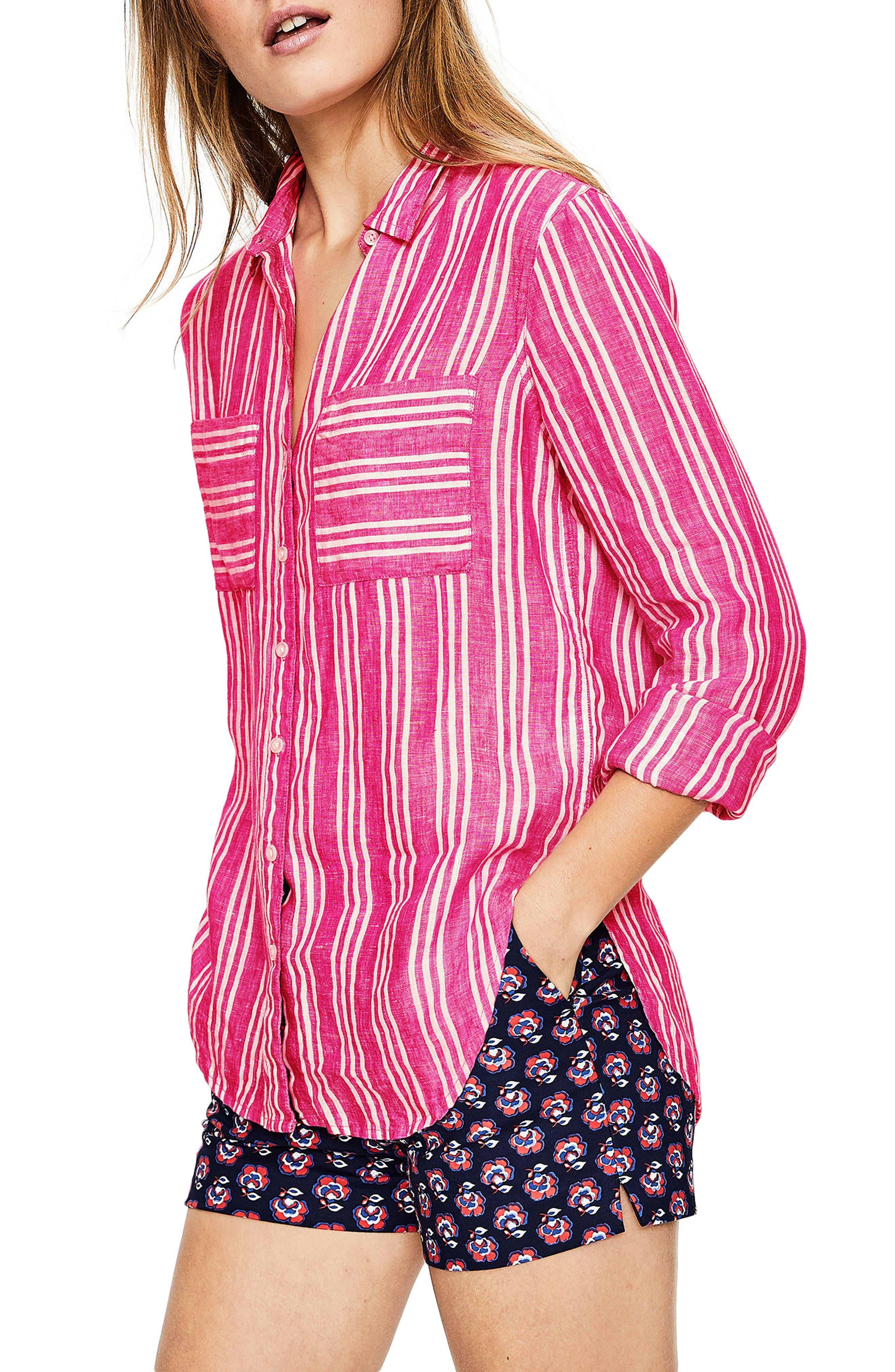 Linen Shirt,                             Main thumbnail 1, color,