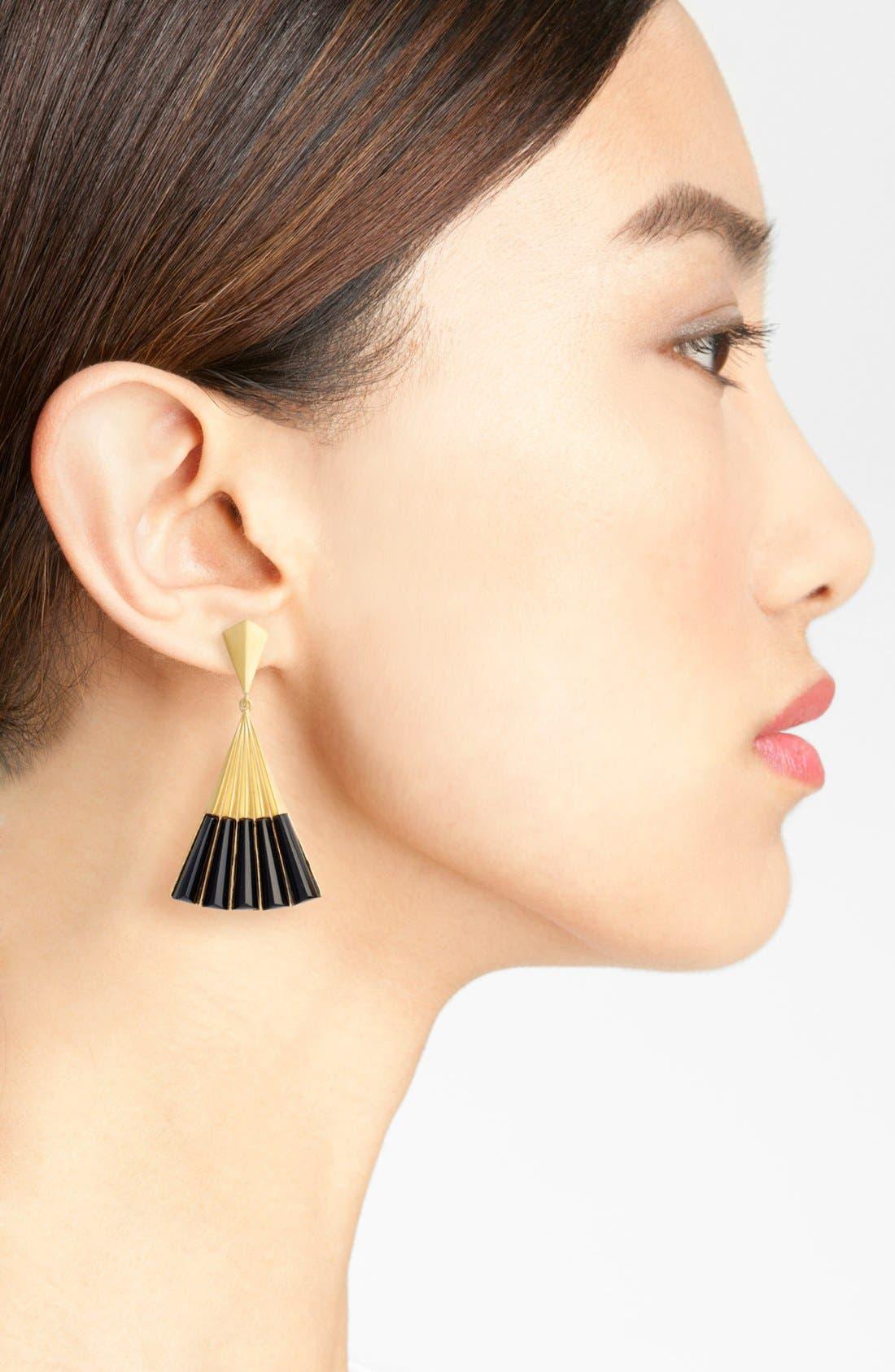 Fan Earrings,                             Alternate thumbnail 2, color,                             001